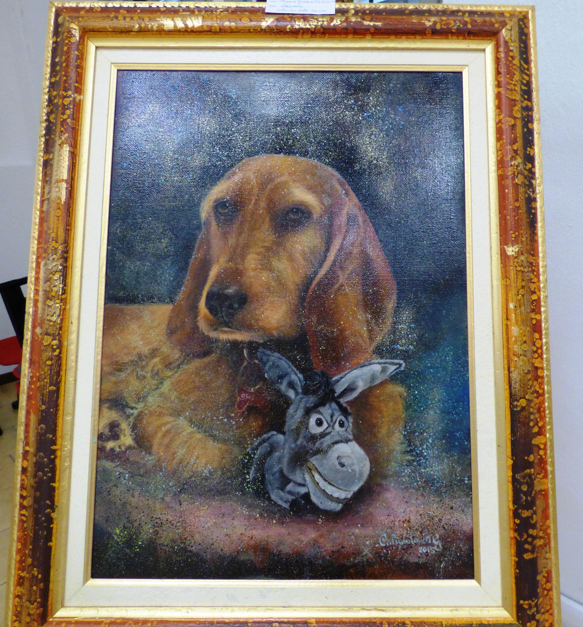 Maria Grazia Calamita sharon olio su tela 50x70