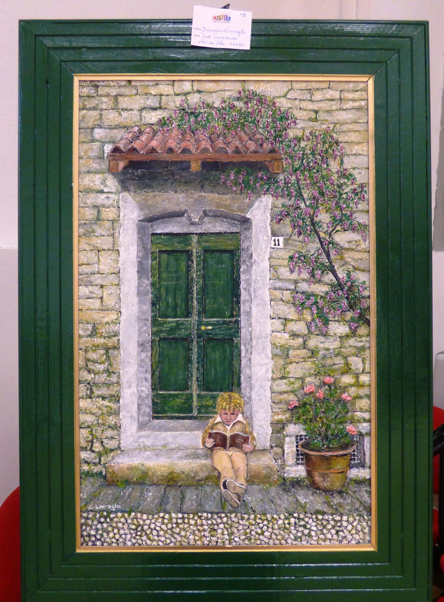 Giuseppe Livraghi full immersion olio su tela 50x80