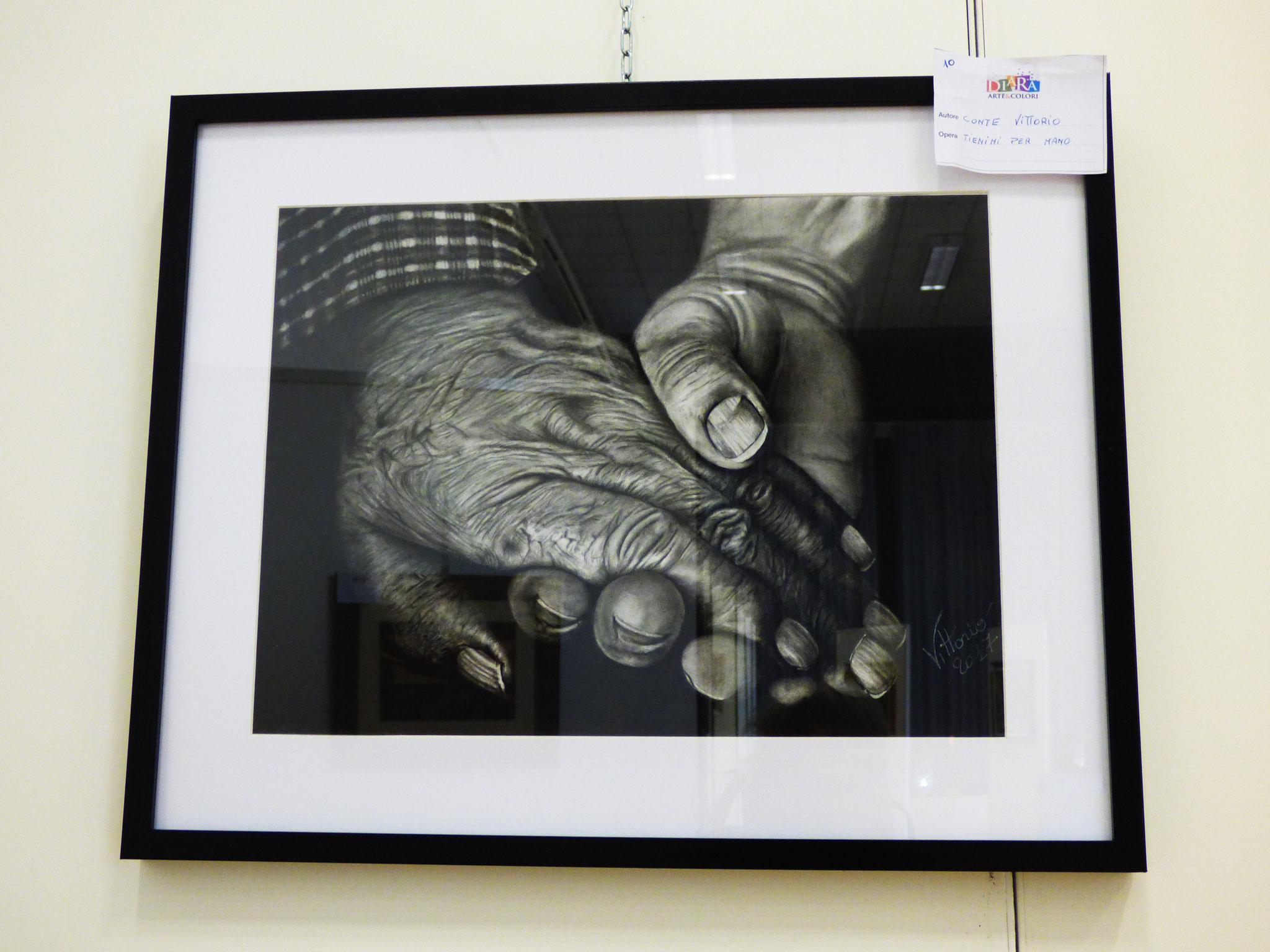 Rivergaro: DIARA Arte & Colori - IV concorso di Pittura ed.2018 - Conte Vittorio - Tienimi per Mano