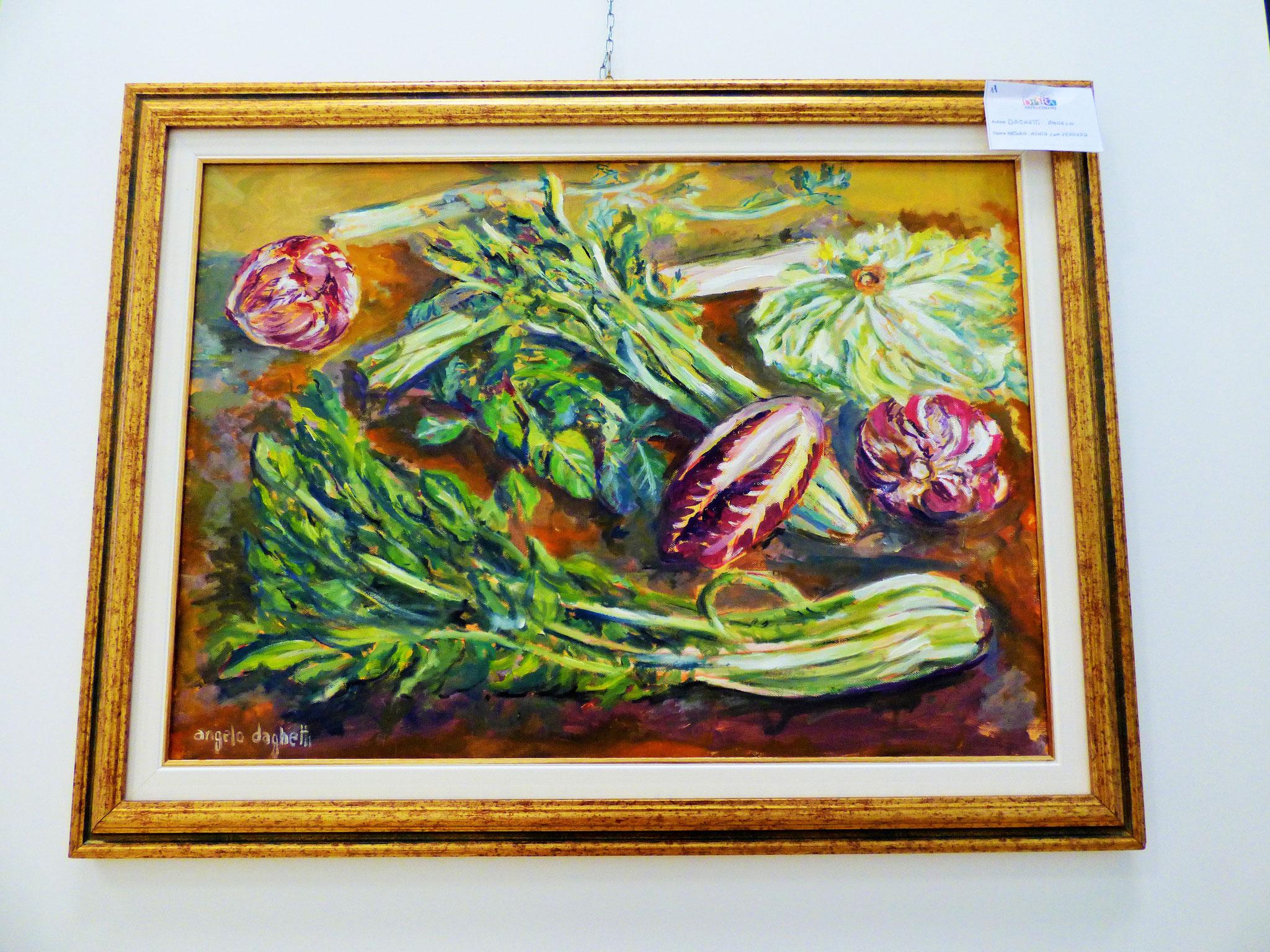 Rivergaro: DIARA Arte & Colori - IV concorso di Pittura ed.2018 - Daghetti Angelo - Natura Morta con Verdura