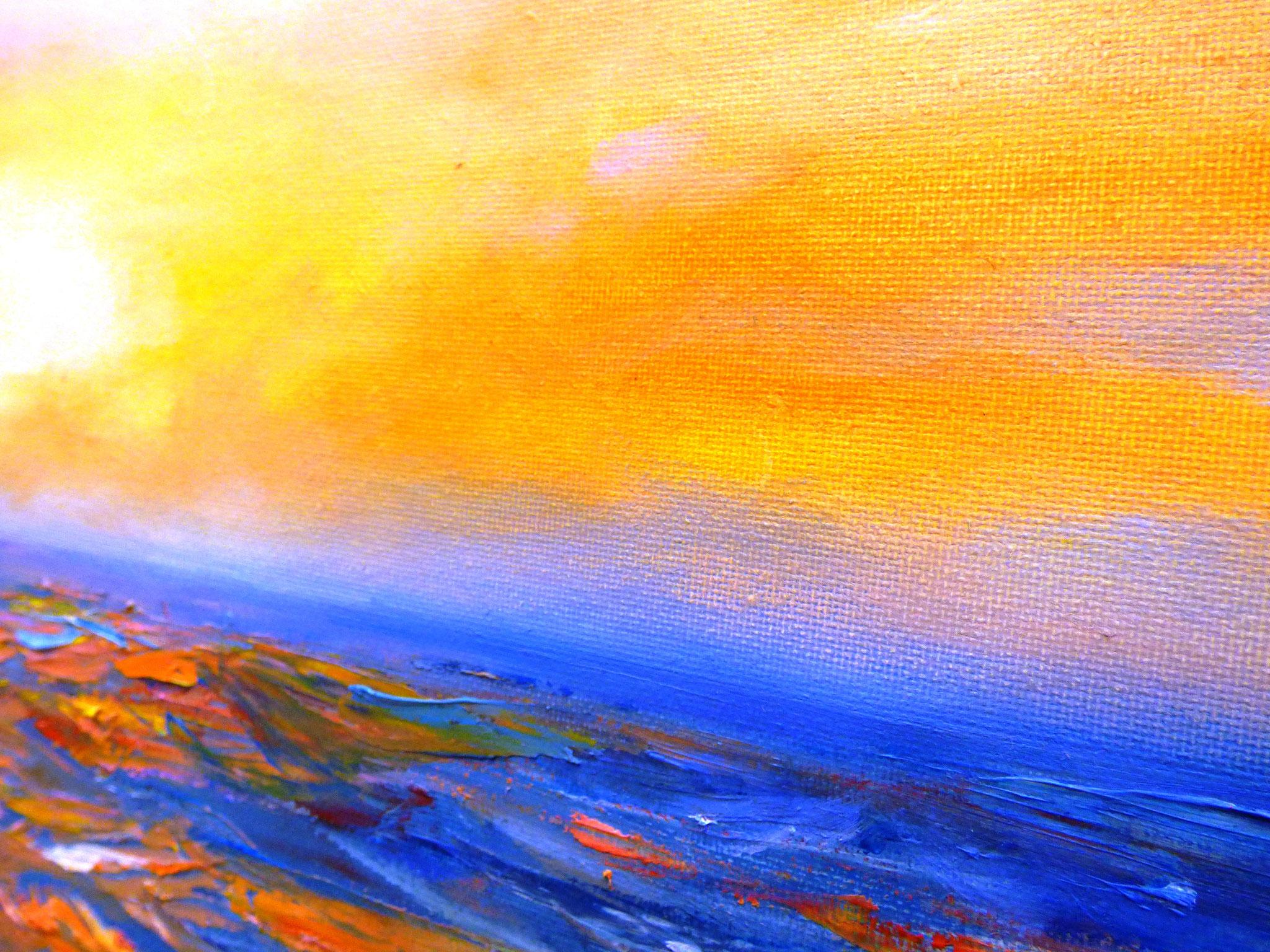 particolare Silvana Ghigna Lumiere du soleil olio su tela 50x50