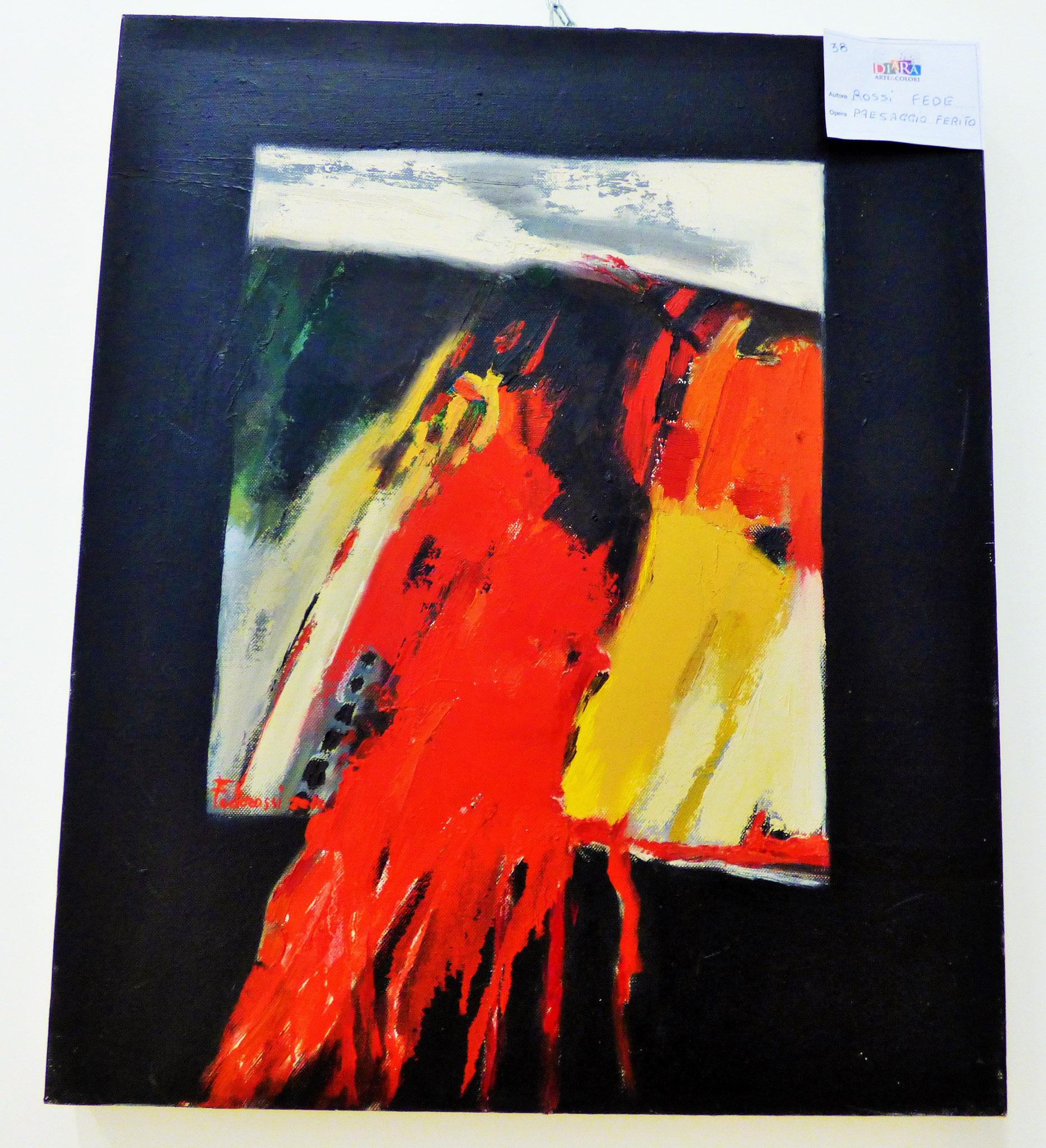 Rivergaro: DIARA Arte & Colori - IV concorso di Pittura ed.2018 - Rossi Fede - Paesaggio Ferito