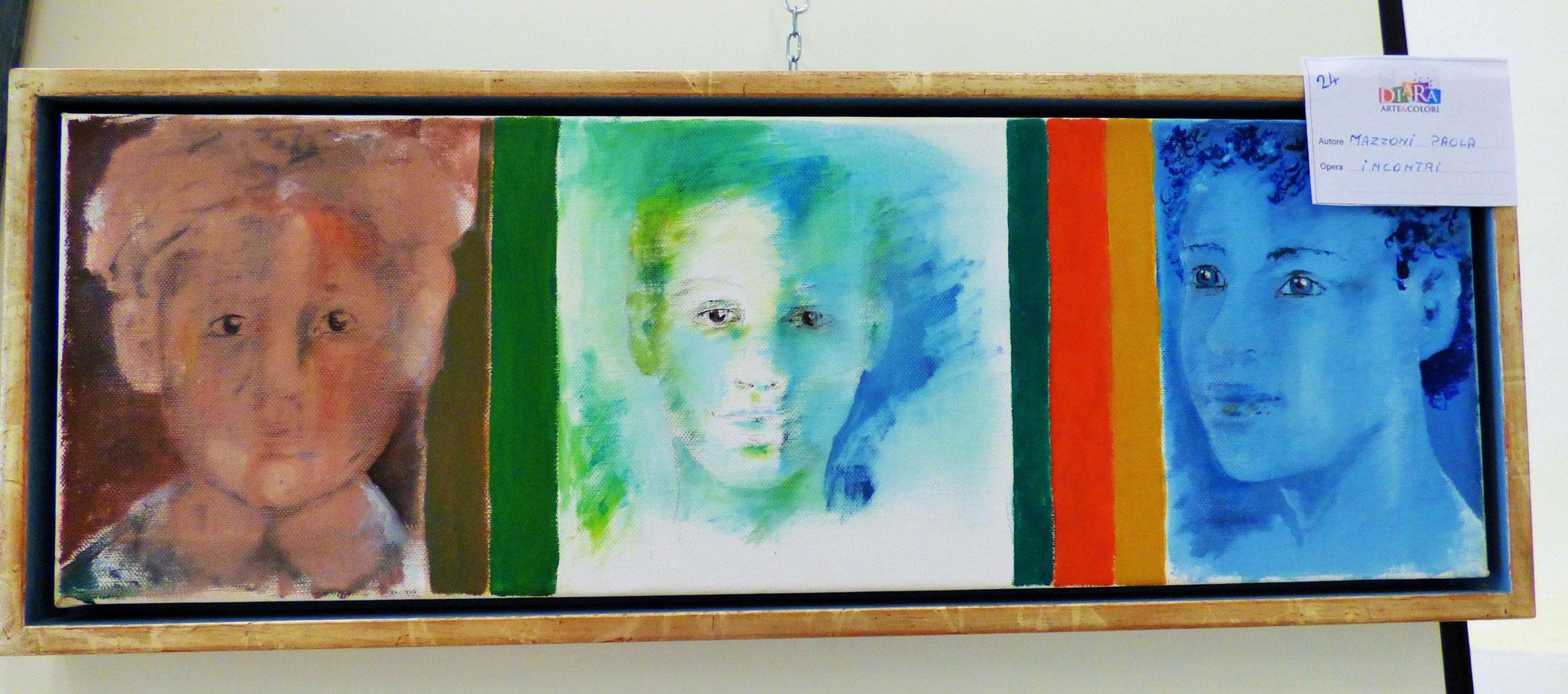 Rivergaro: DIARA Arte & Colori - IV concorso di Pittura ed.2018 - Mazzoni Paola - Incontri