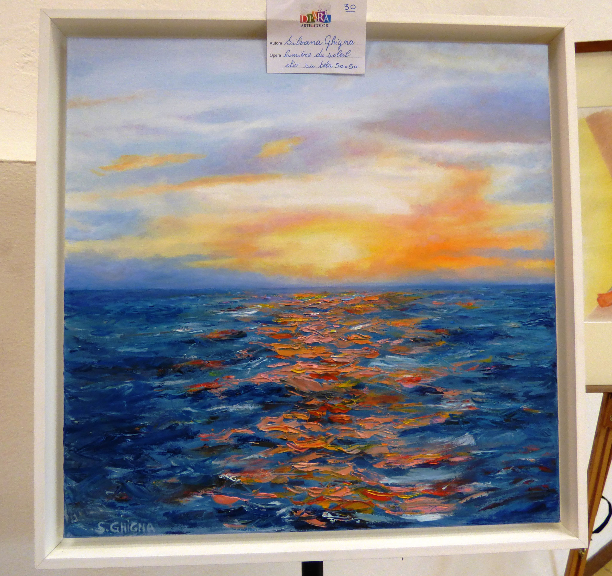 Silvana Ghigna Lumiere du soleil olio su tela 50x50