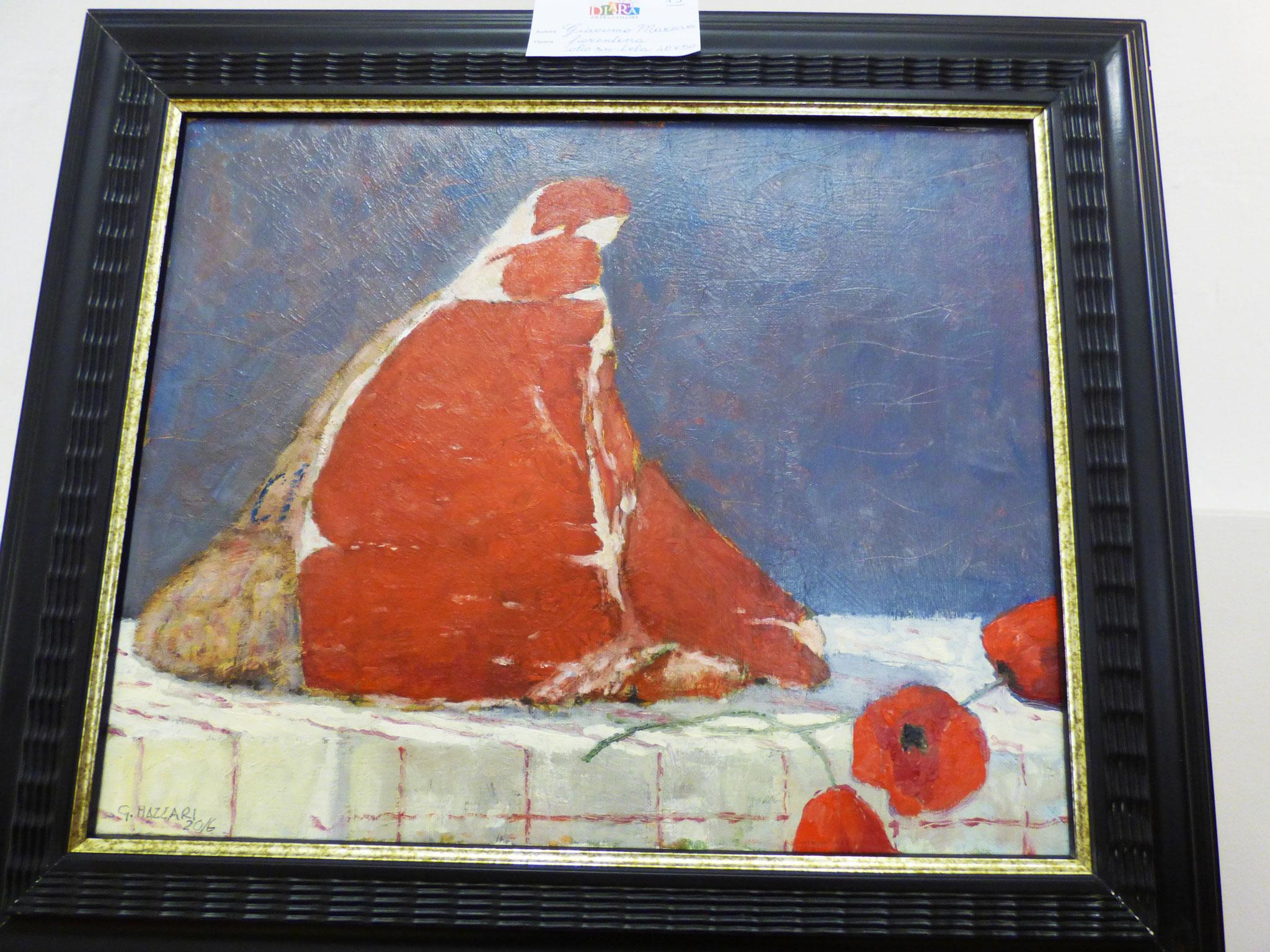 Giacomo Mazzari fiorentina olio su tela 40x50