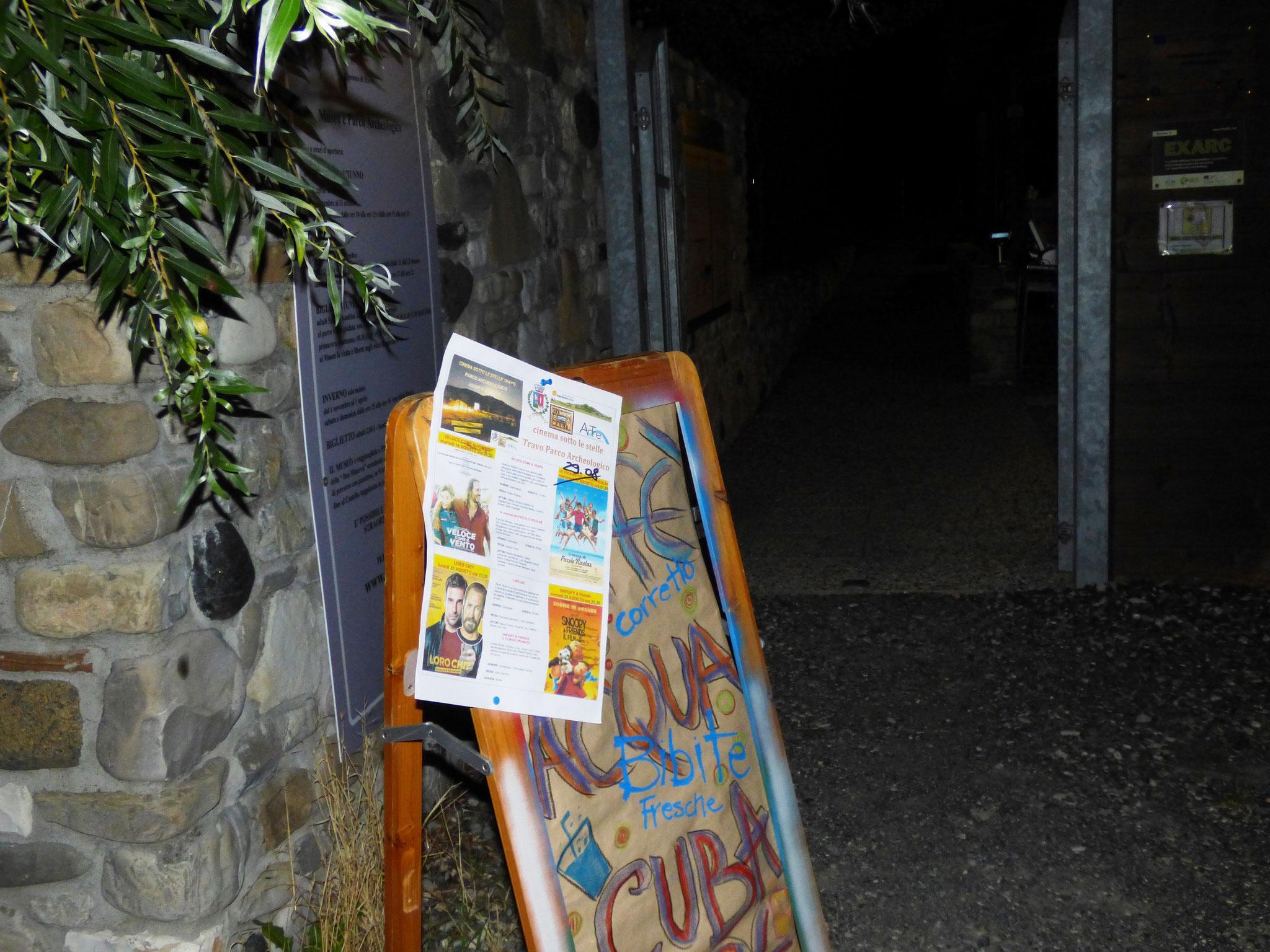 cinema sotto le stelle - Parco Archeologico di Travo 22 agosto 2016