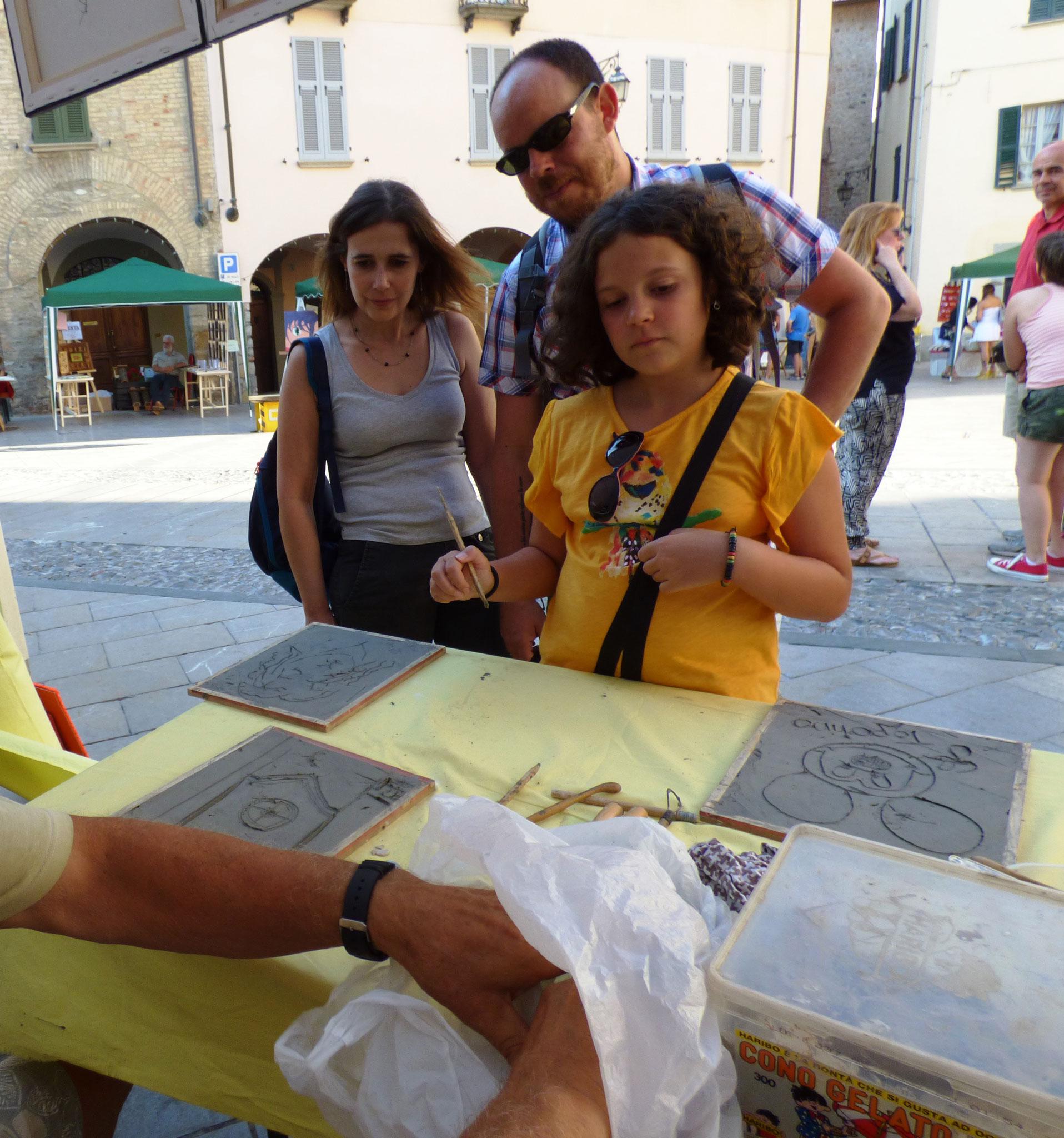 """gli """"Artigiani Creativi"""" di ArTre  Bobbio 14 agosto"""