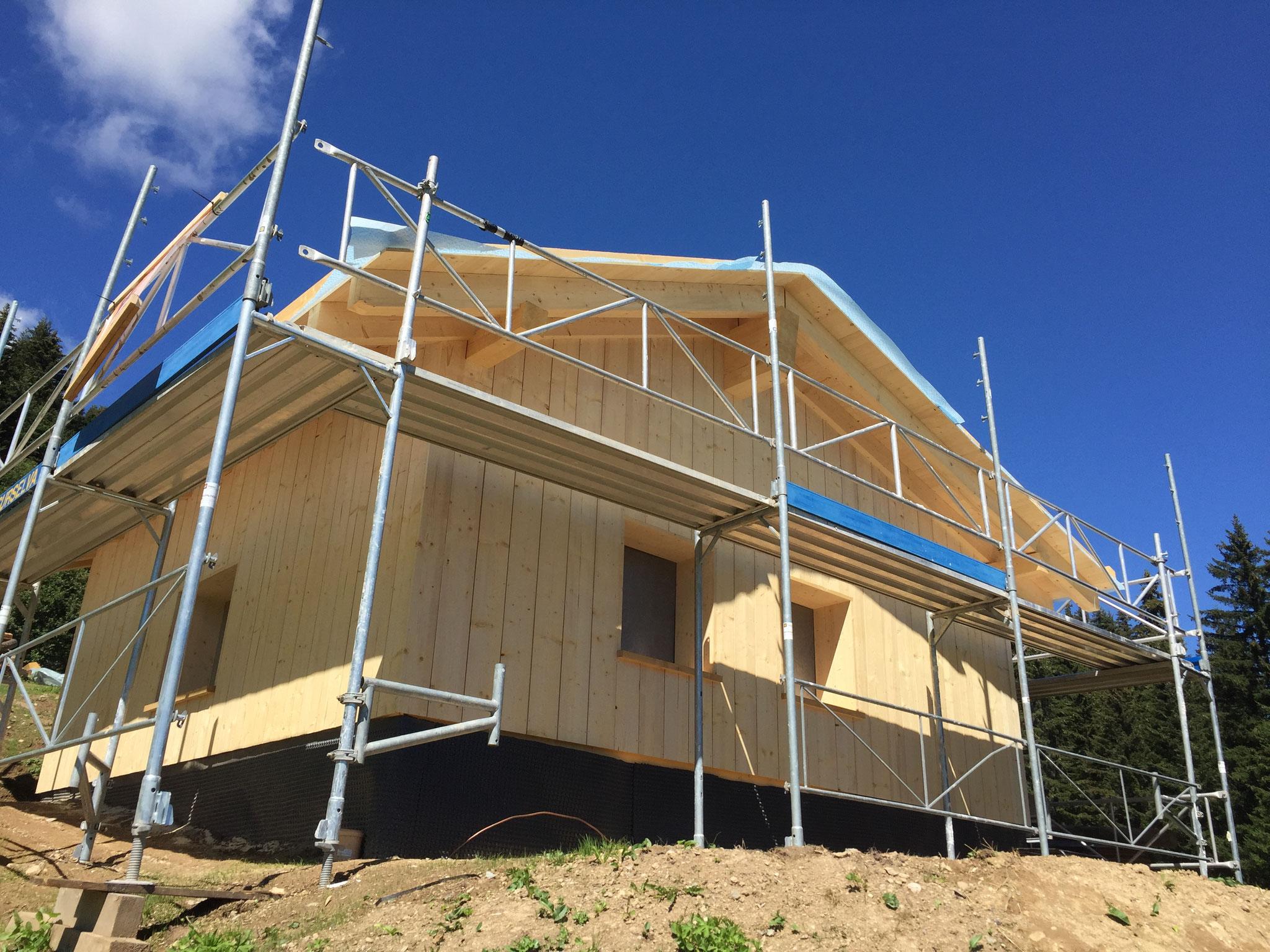 Neu- Umbau Maiensässhütte