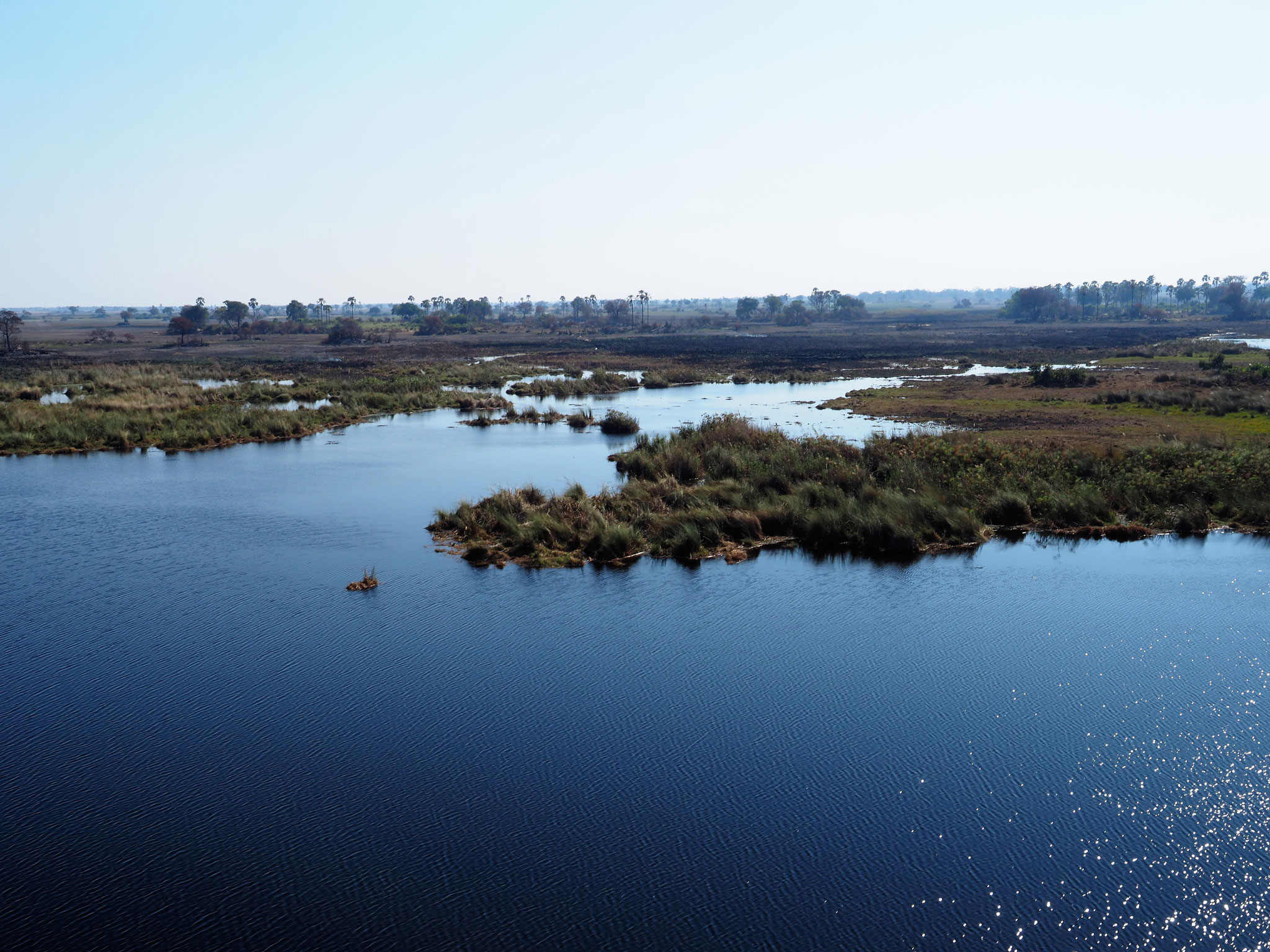 Helikopterflug über das Okavango Delta
