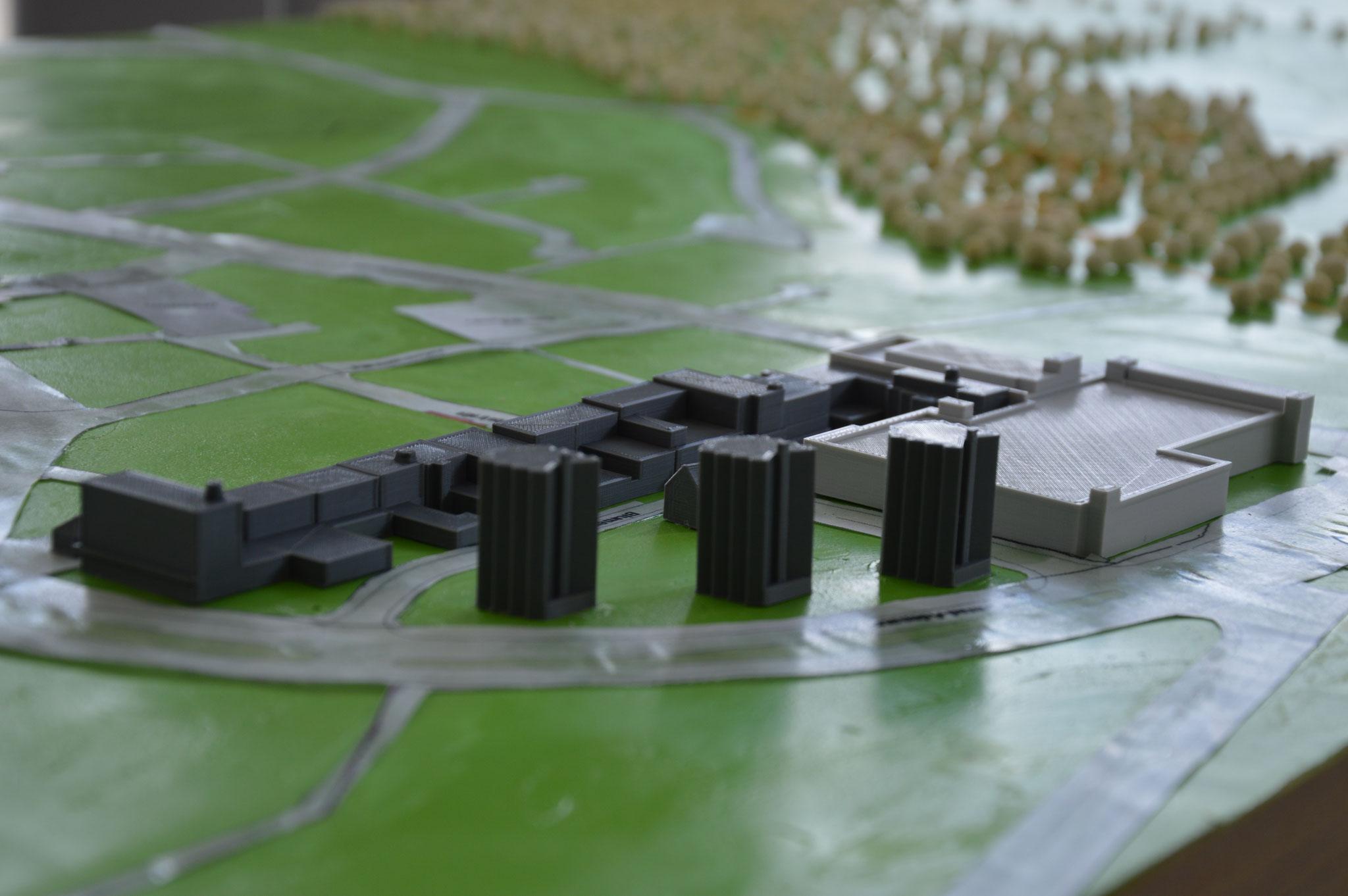 Zwischenstand Übertage-Modell Innenstadt und Schlosspark