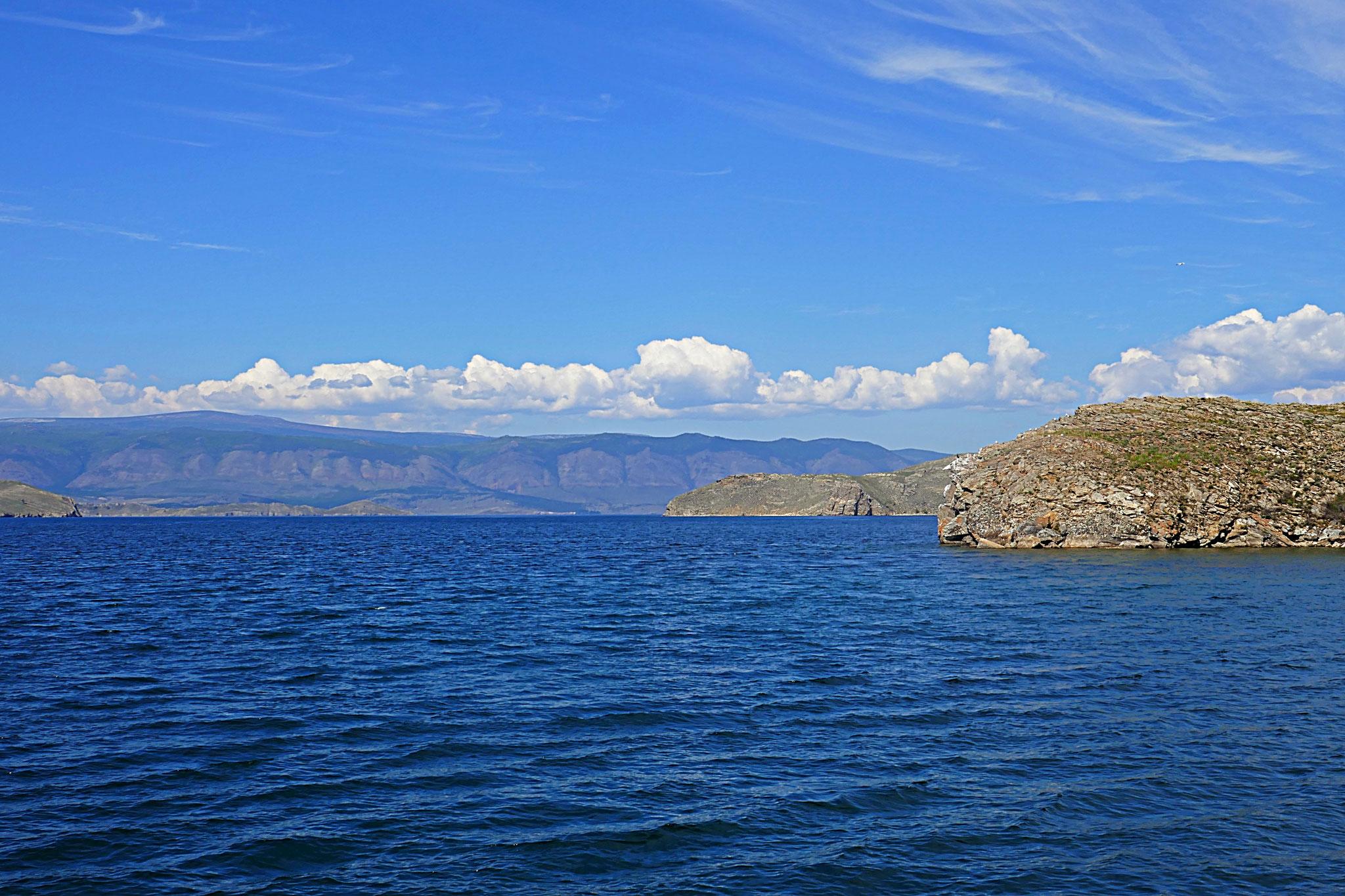 Mit der Fähre über den Baikalsee auf die Insel Olchon