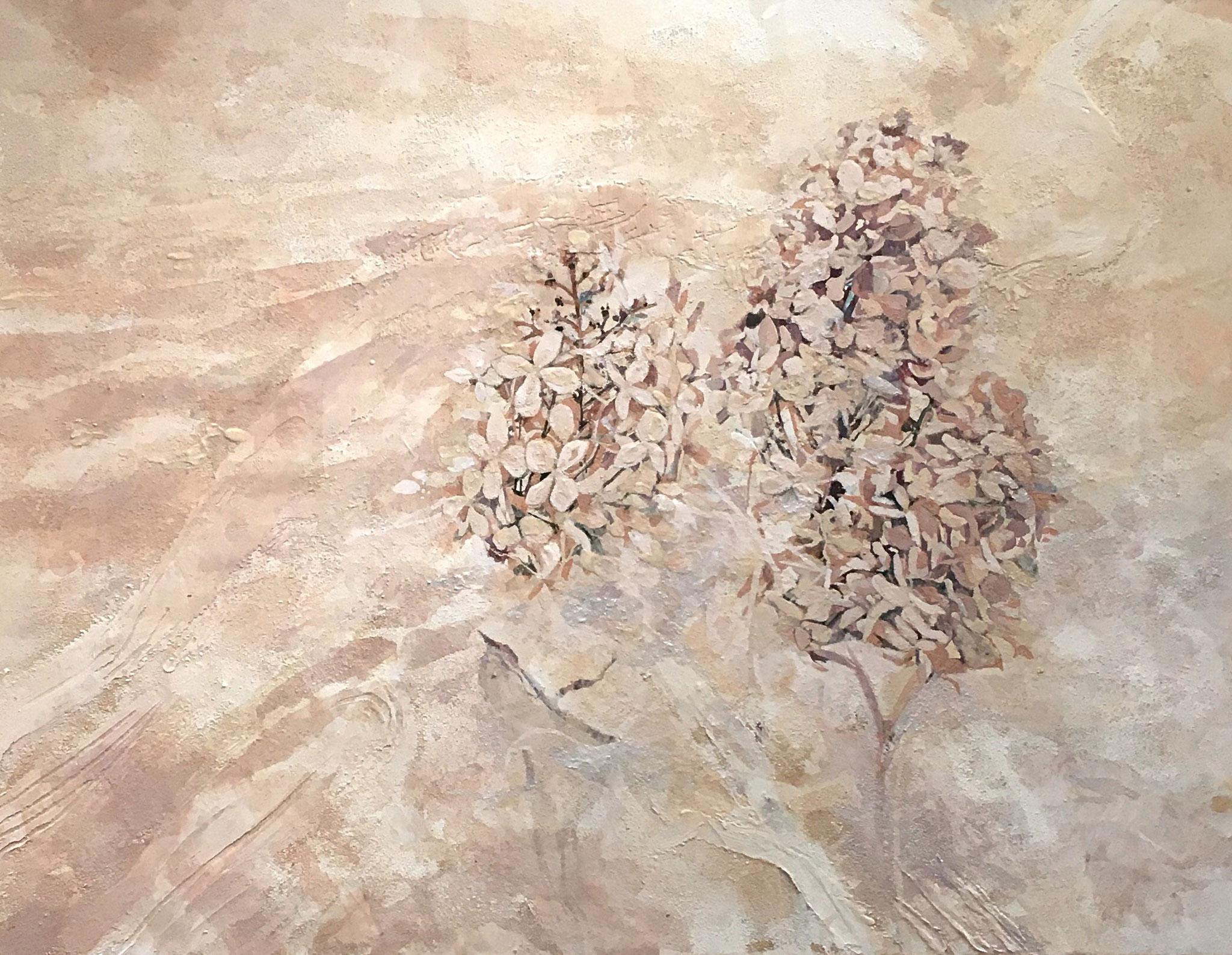 「砂の花」2017年、紙本着彩、P10号