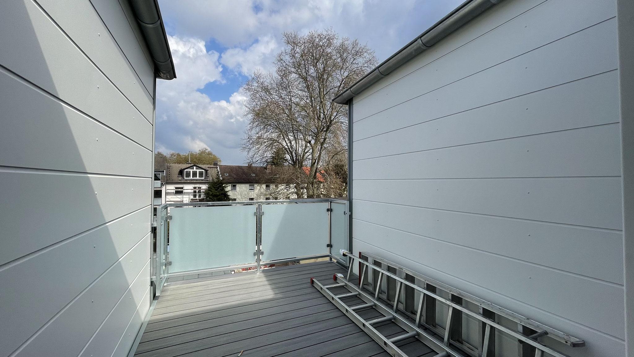 Eine Loggia zwischen zwei Gauben in der Bochumer-Innenstadt ist der optimale Erholungsort