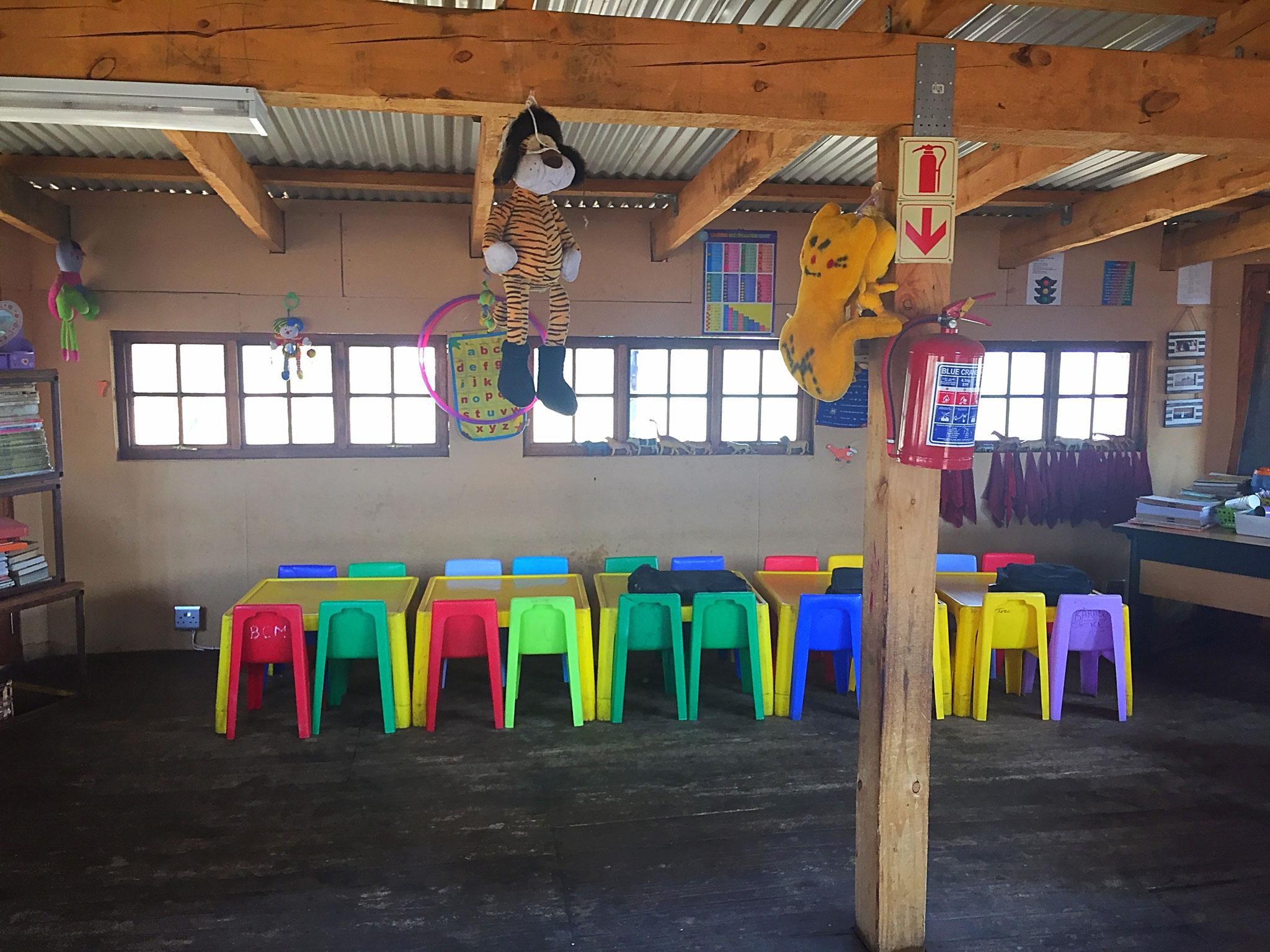 Unterrichtsräume in dem erbauten Gebäude 2012