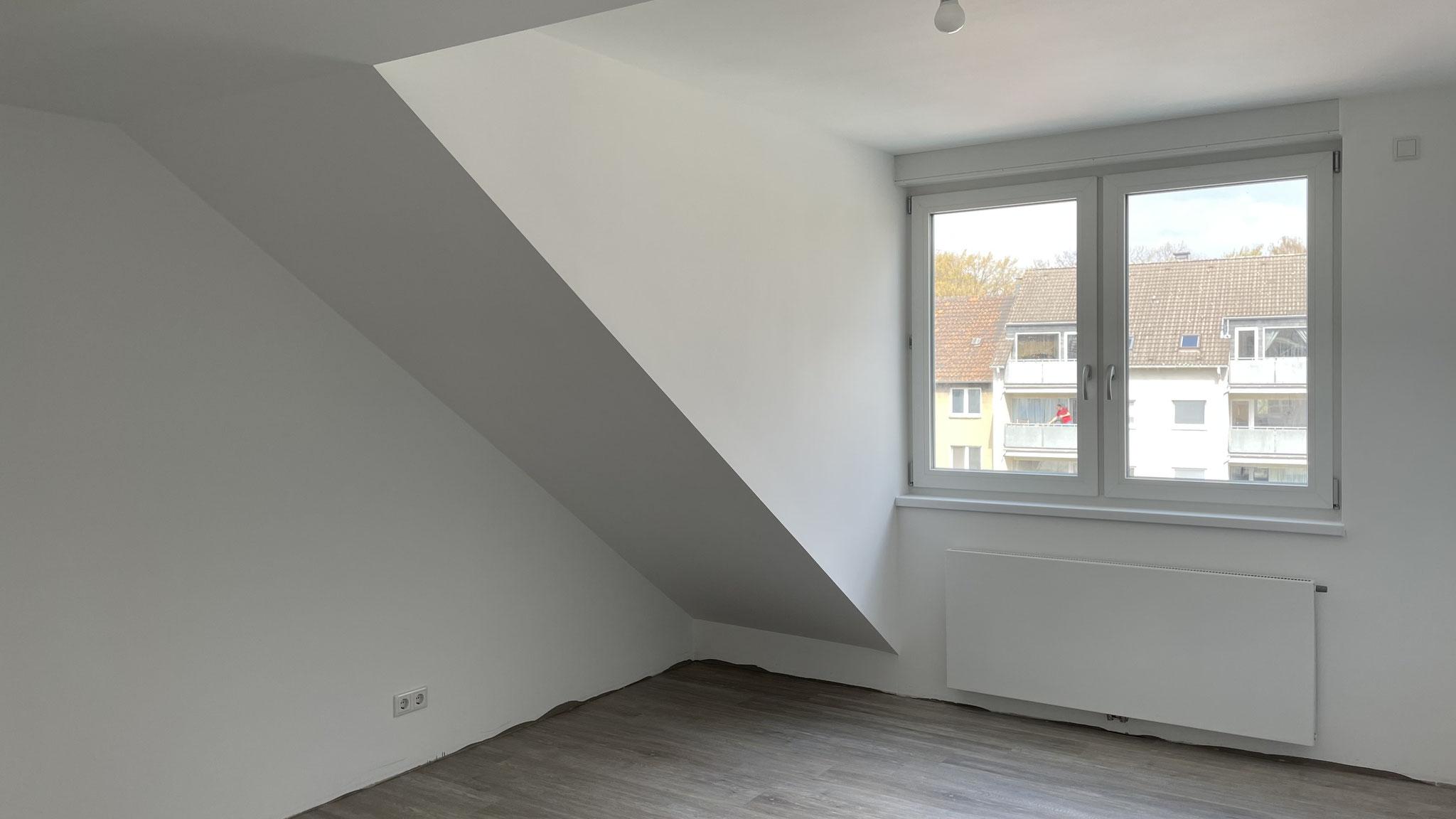 Innenausbau einer Dachgaube