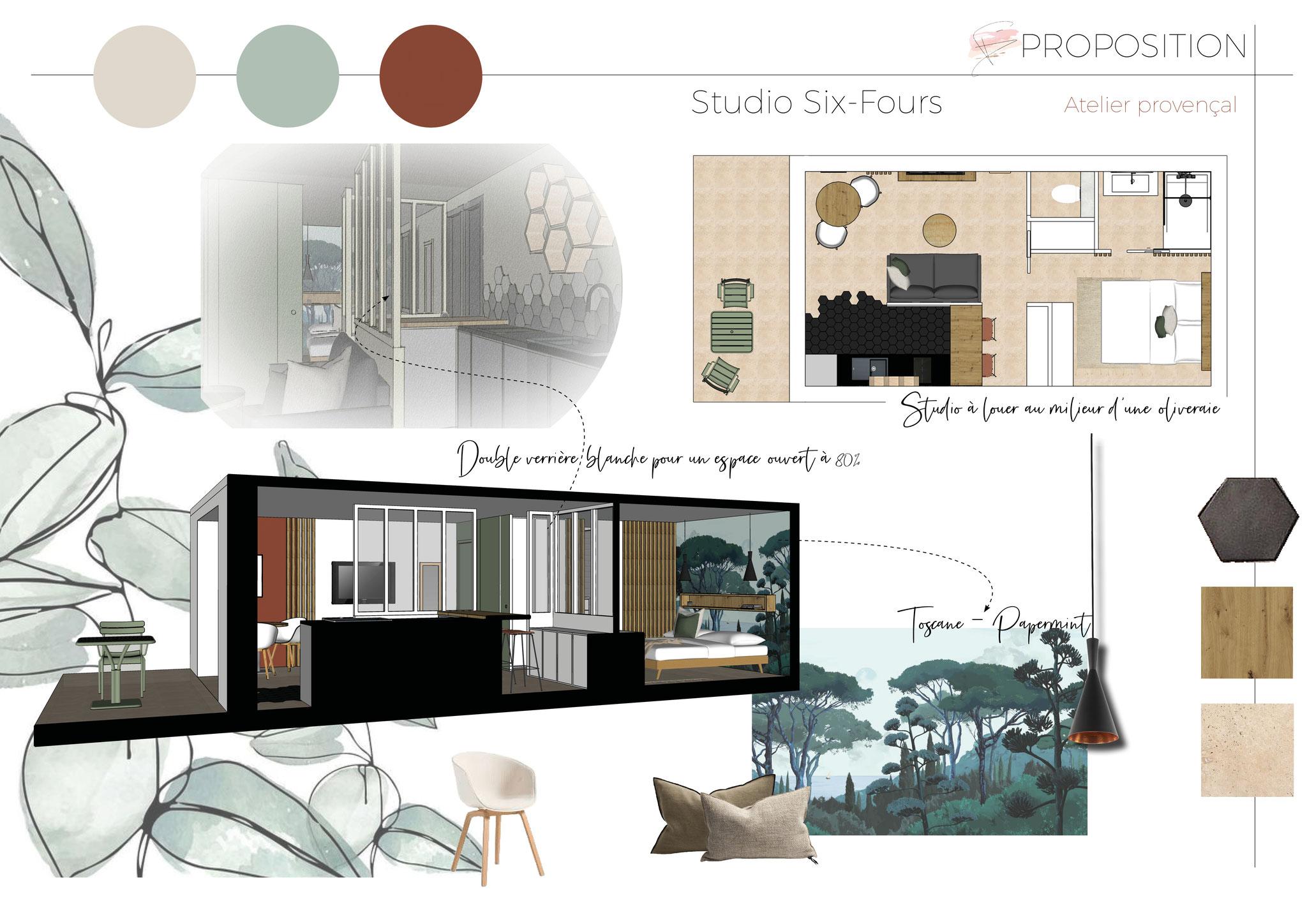 Architecture intérieure sur mesure par Flora Boscher à Six-Fours