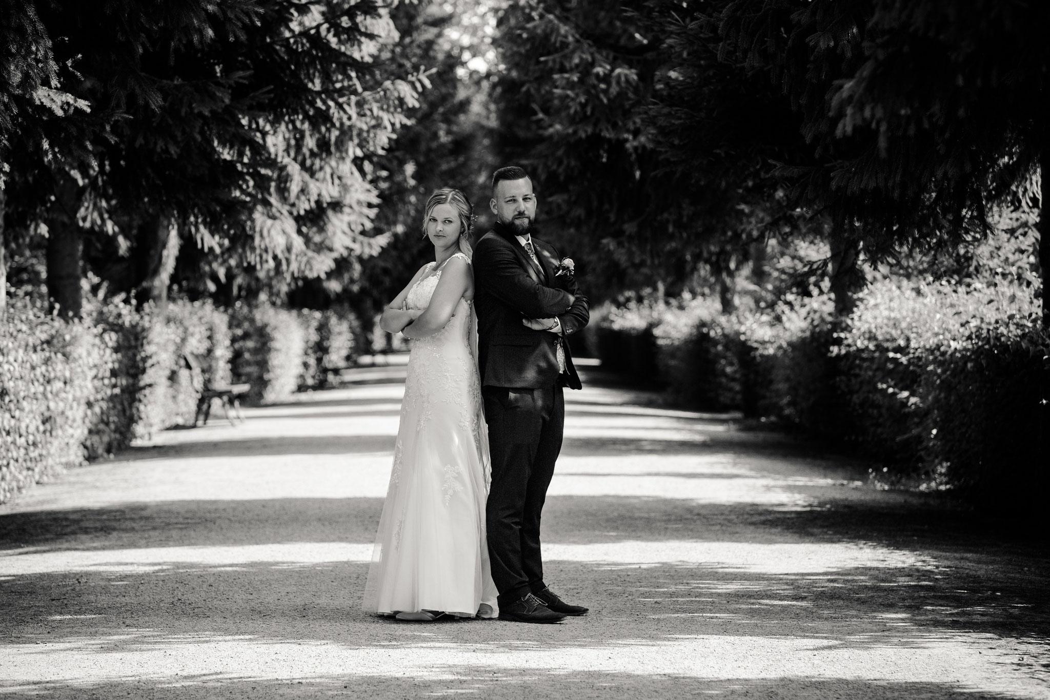 Hochzeitsfotos im Schlossgarten in Veitshöchheim