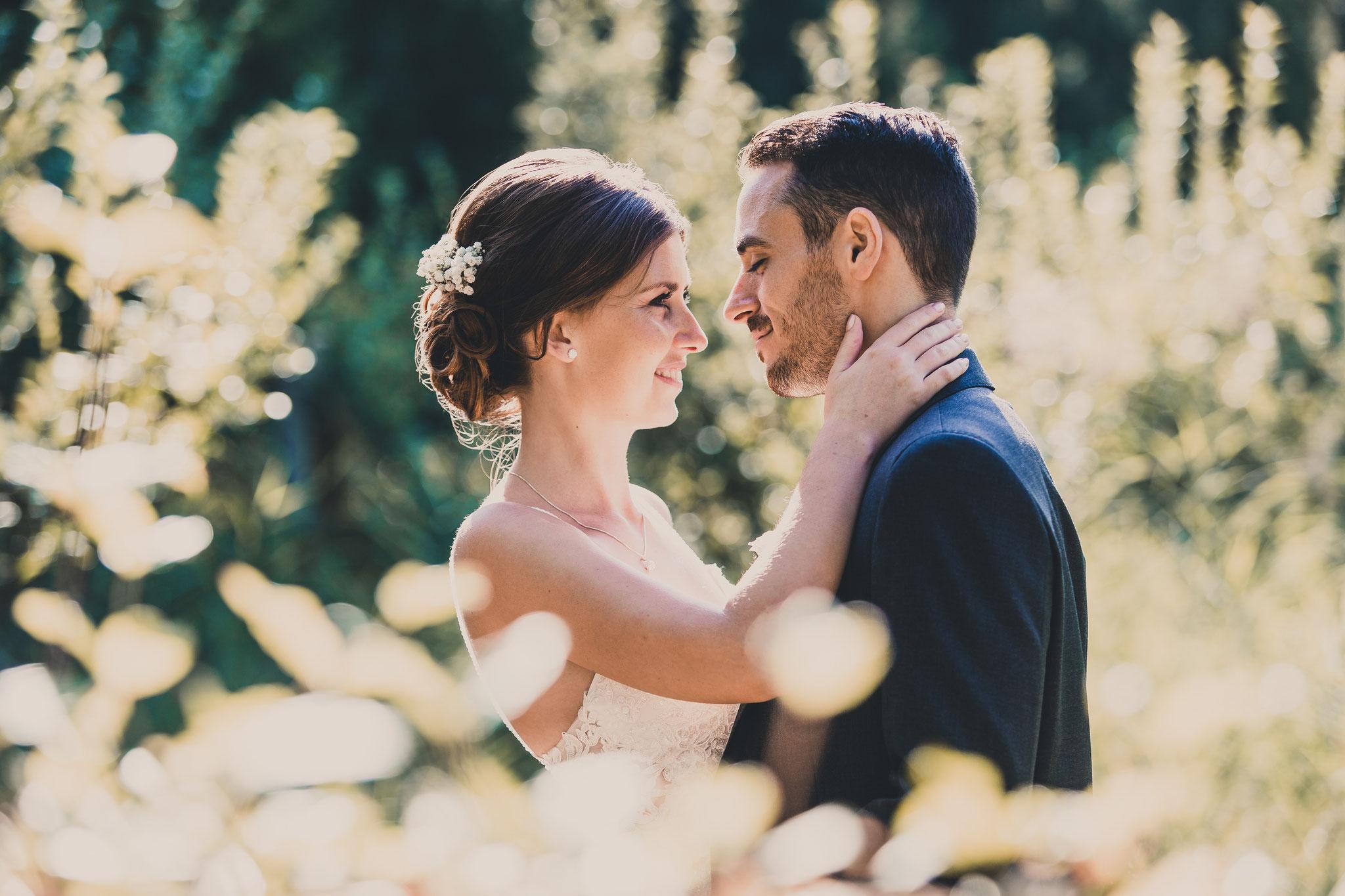 Hochzeitsfotos in der Natur in Franken
