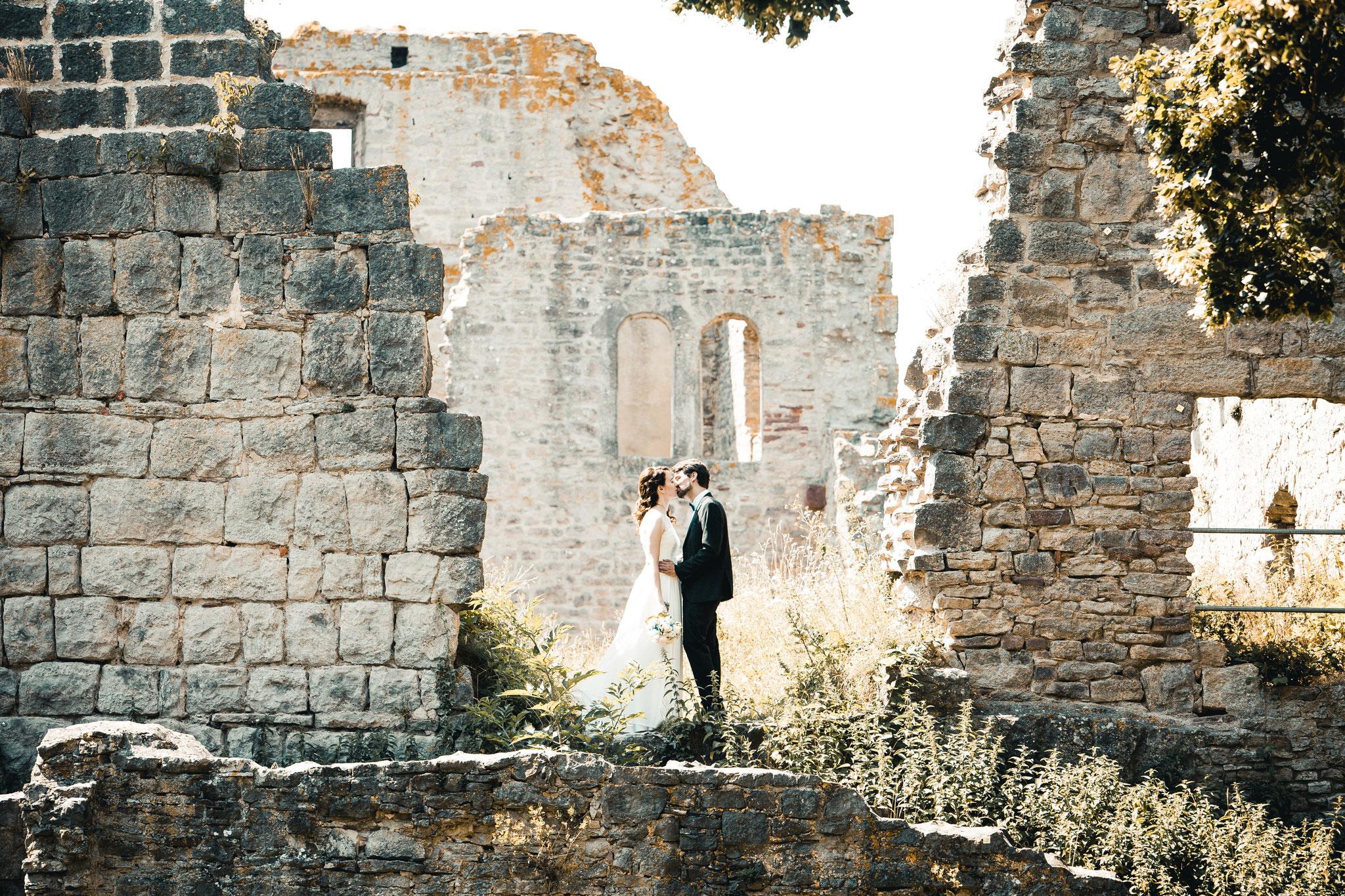 Hochzeitsfotos Burgruine Homburg bei Gössenheim