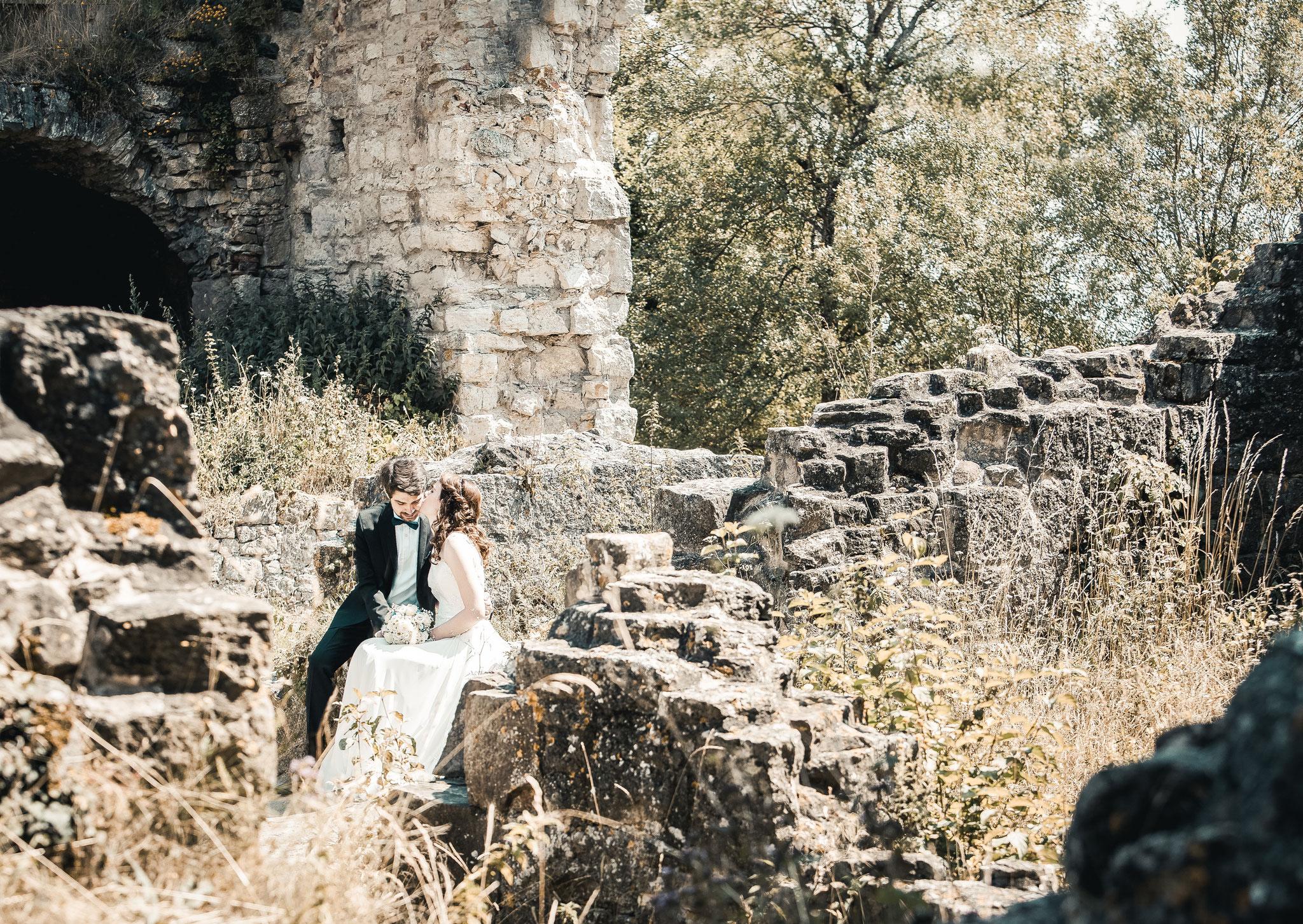 Hochzeitsfotos Burgruine  Homburg