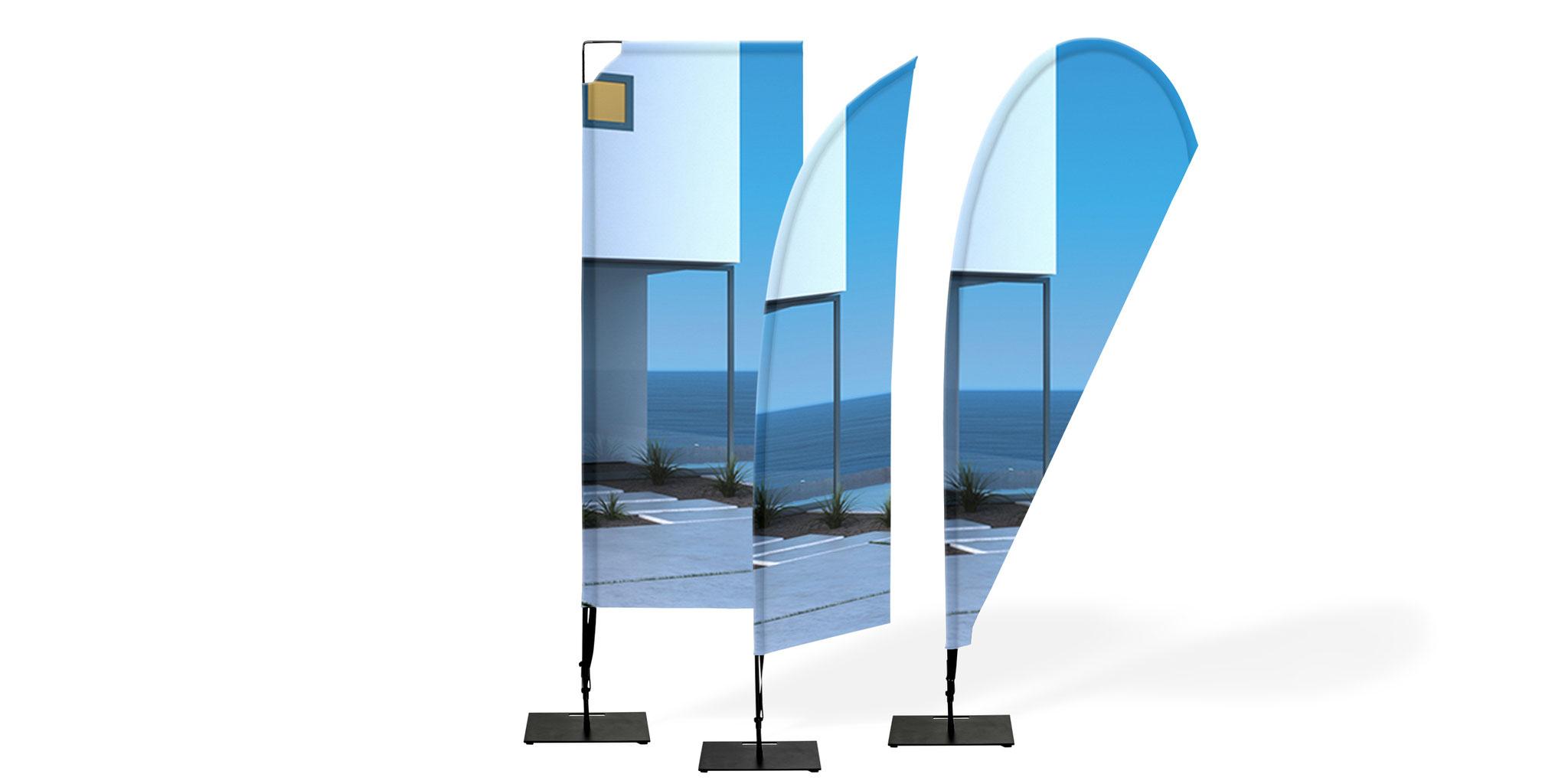 Beachflags drucken, Fahnen online kaufen