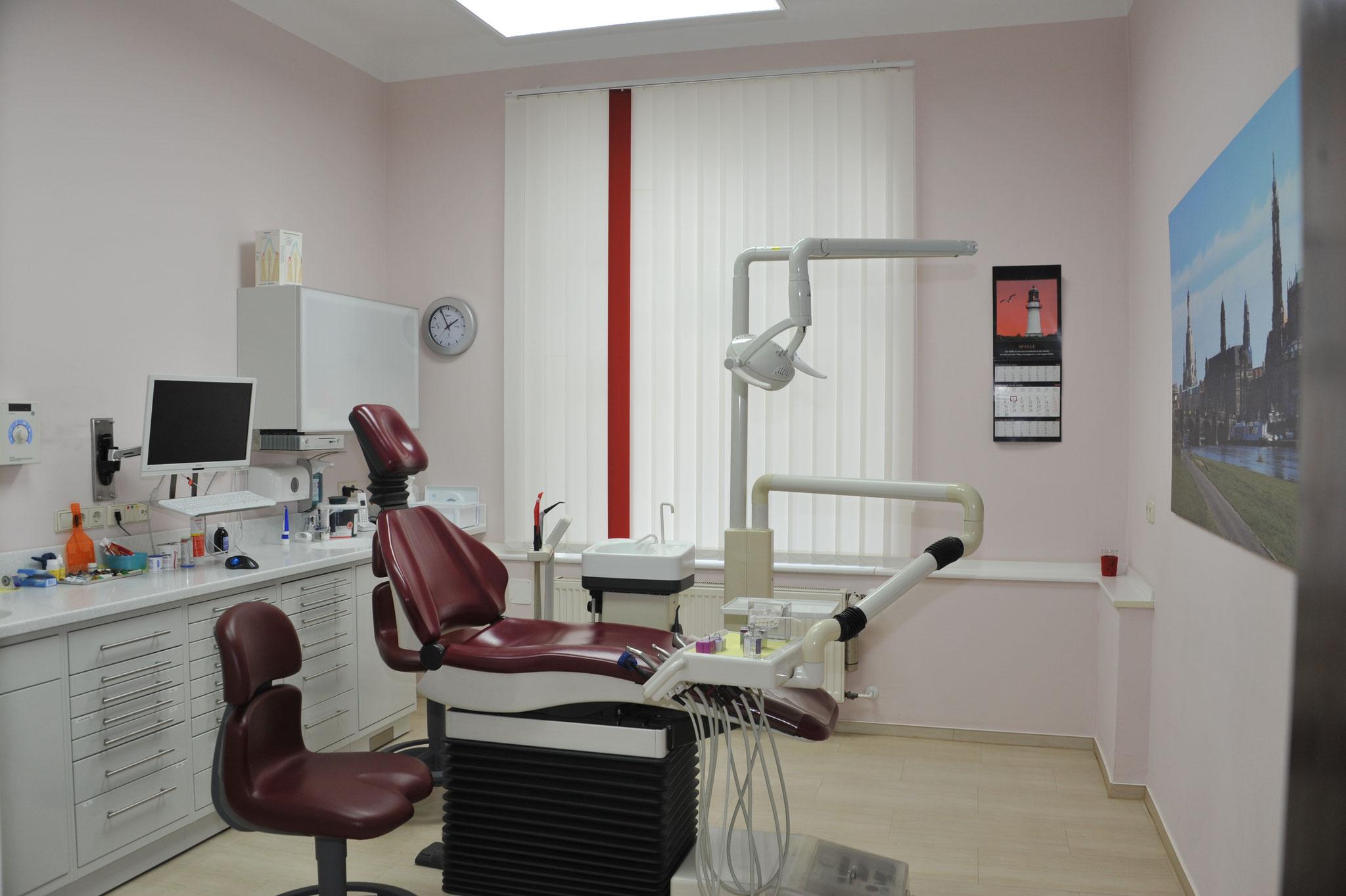 Behandlungsraum rot