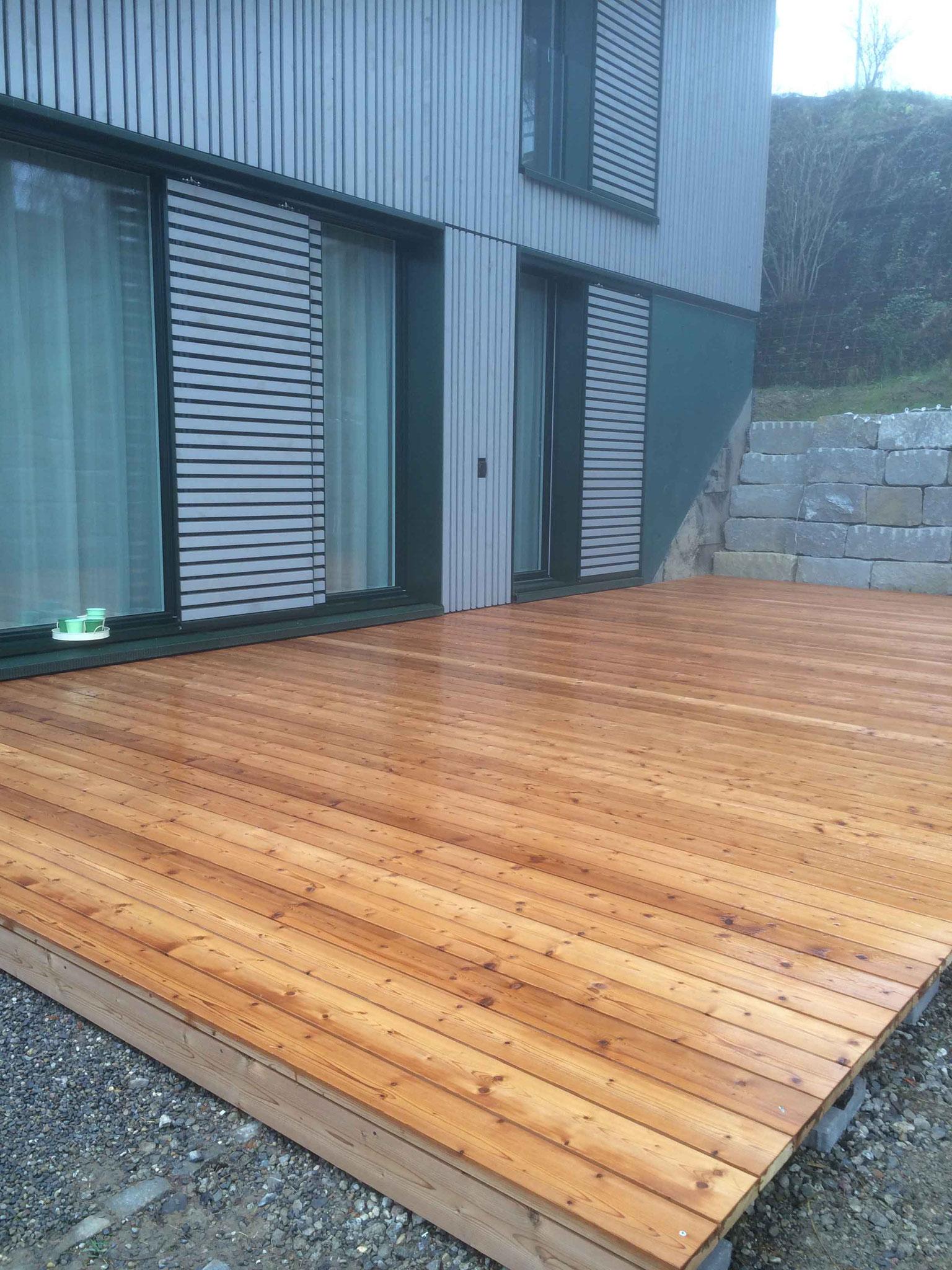 Strebel Holzbau Aussenterrasse