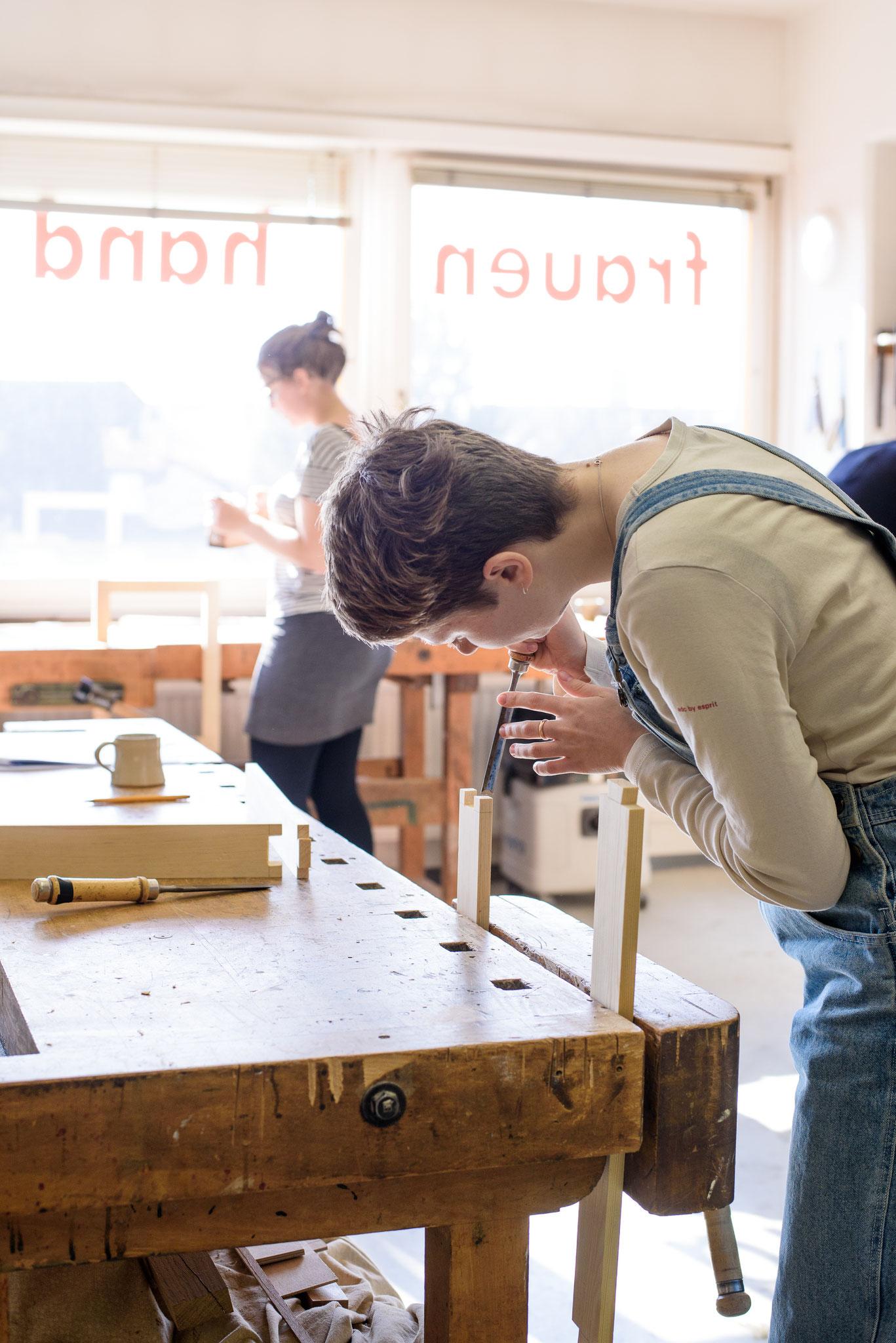 Holzbearbeitung für Frauen Hamburg
