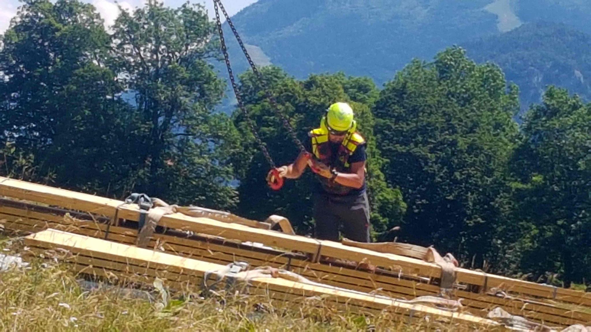 Heliportage pour chantier Solliet (74)
