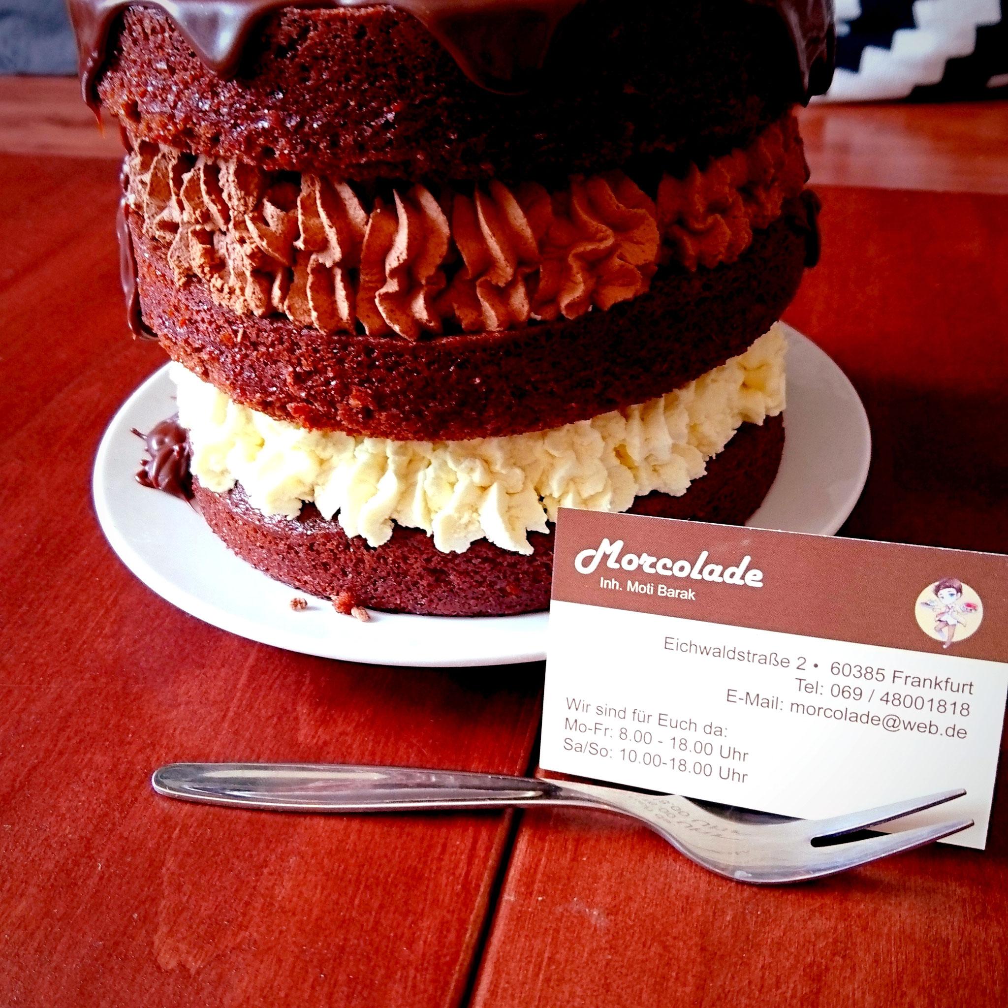 Hausgemachte Kuchen Morcolade Cafe Frankfurt Bornheim