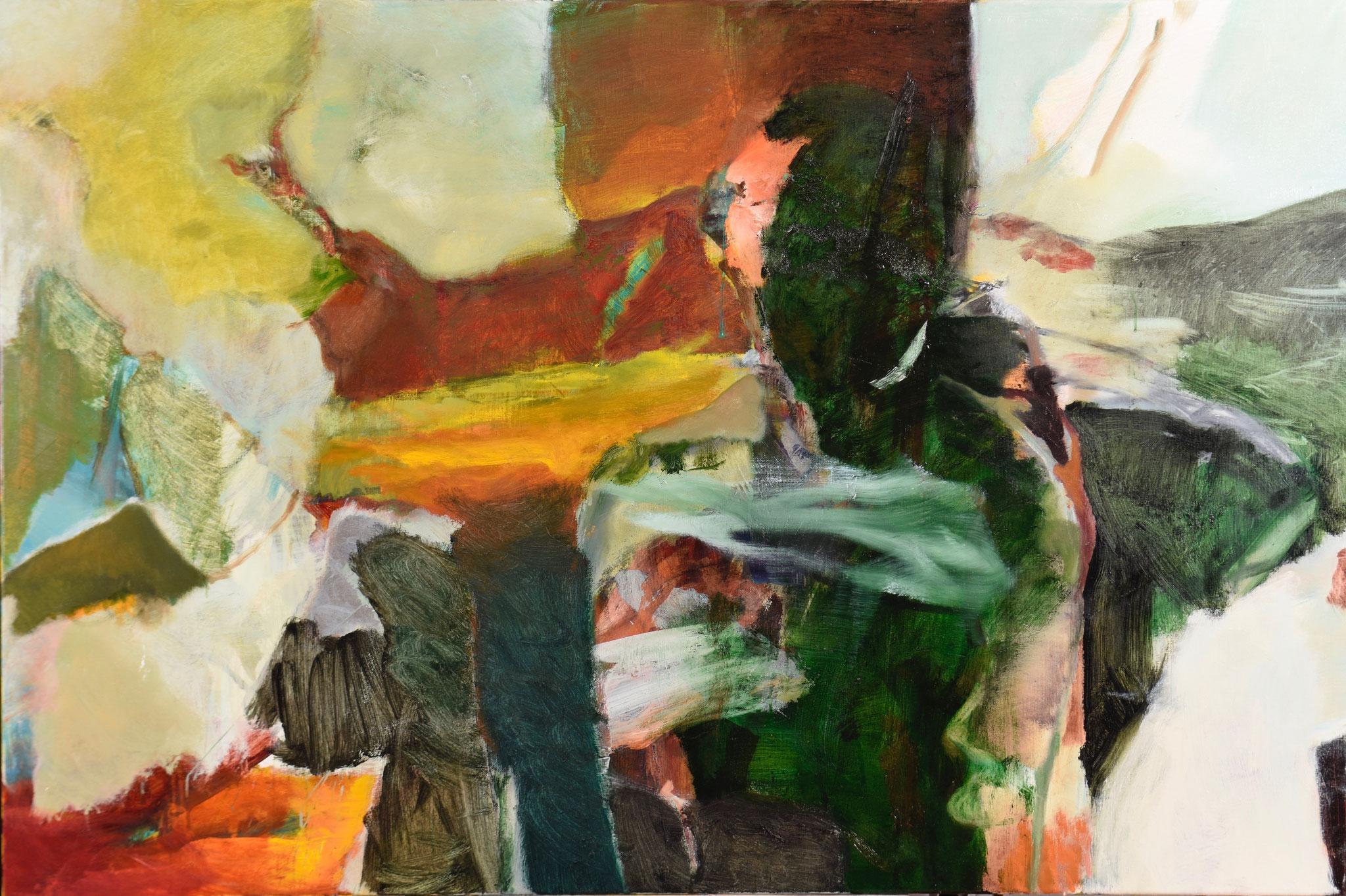 49  |  Ohne Titel  |  2018  |  Öl auf Leinwand  |  100 x 150 cm