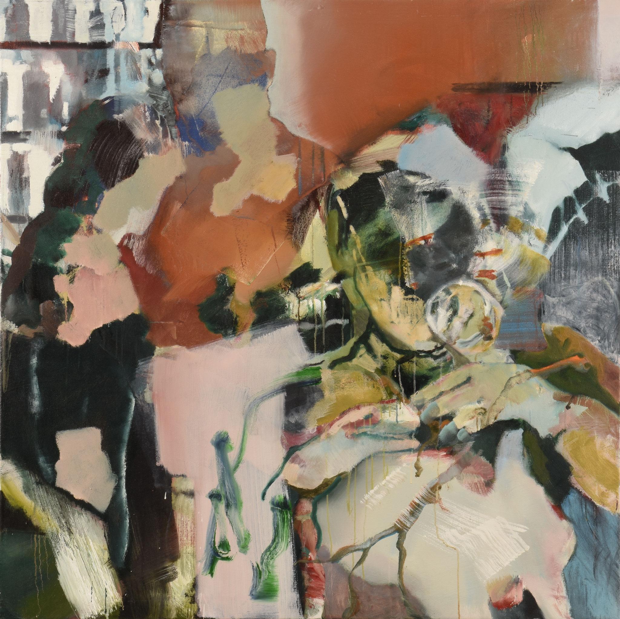 44  |  Ohne Titel   |  2016  |  Öl auf Leinwand  |  120 x 120 cm