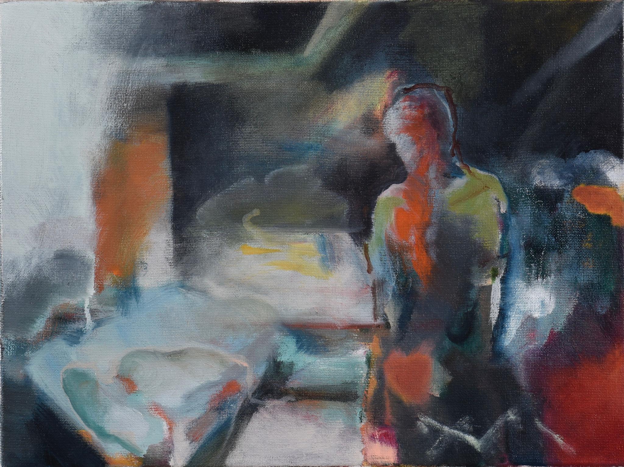 77  |  Ohne Titel  |  2020  |  Öl auf Leinwand  |  30 x40 cm