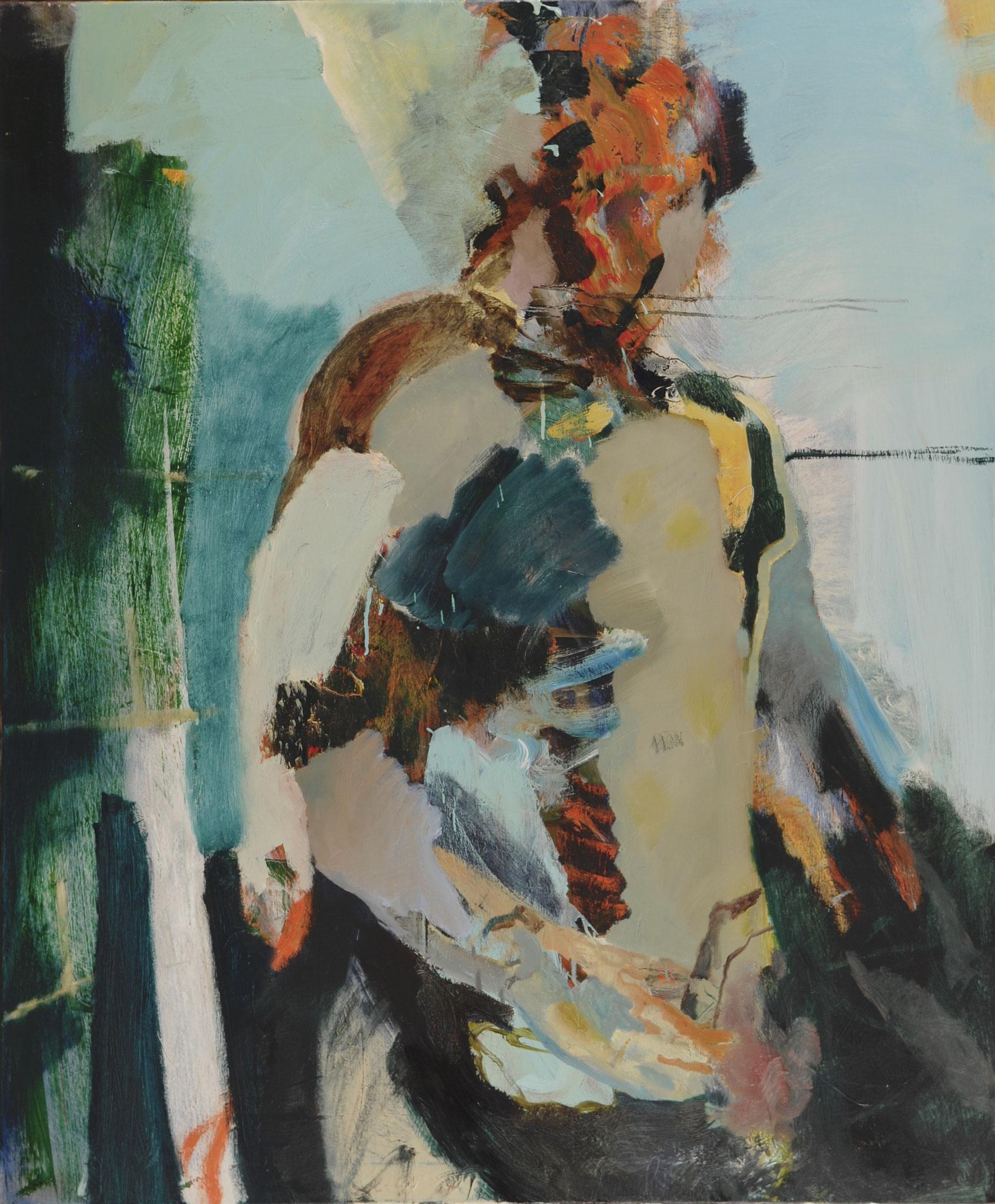40  |  Ohne Titel  |  2016  |  Öl auf Leinwand  |  120 x 100cm