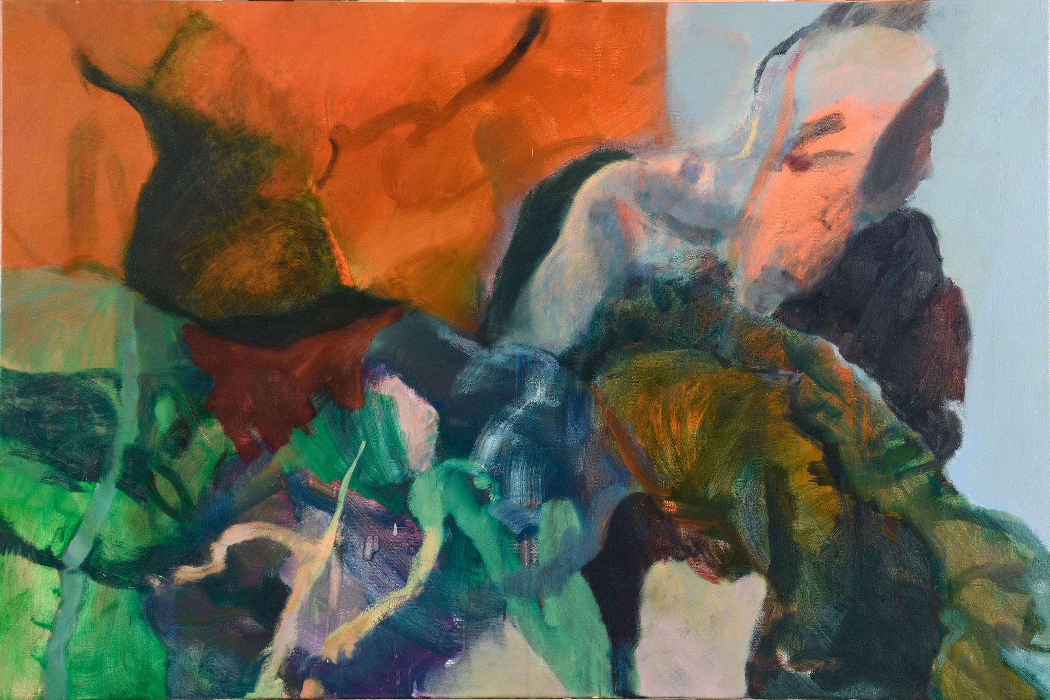 61  |  Ohne Titel  |  2018  |  Öl auf Leinwand  |  100 x 150 cm