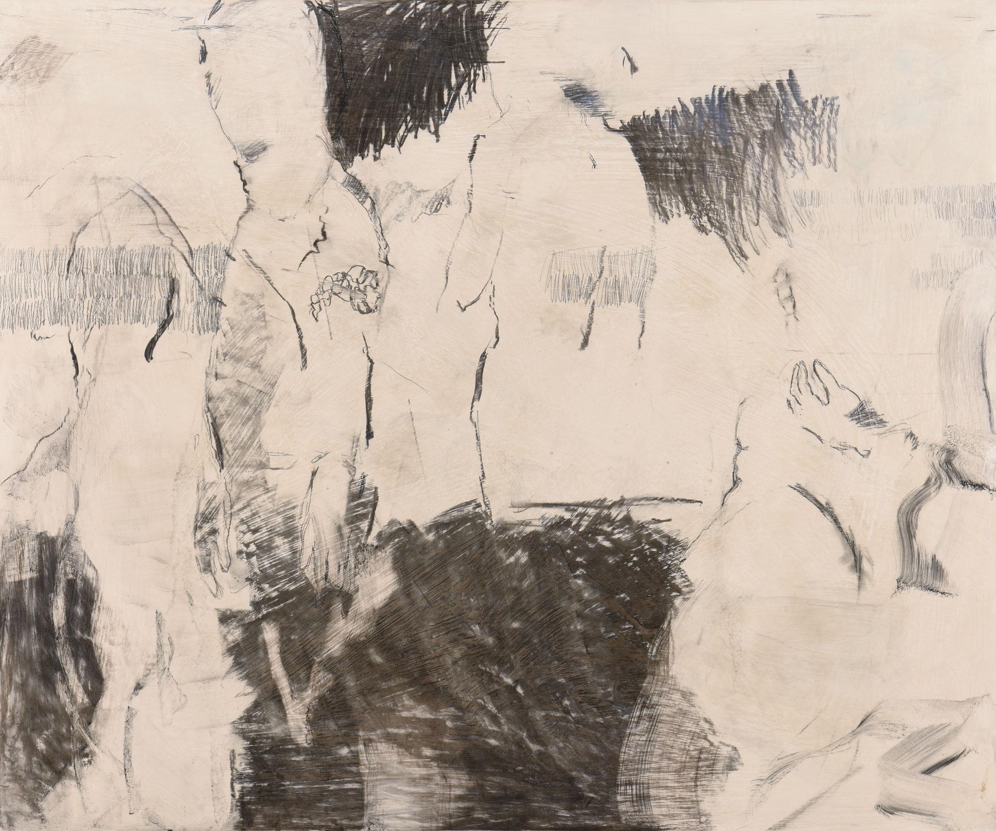 21  |  Ohne Titel  |  2017  |  Kohle und Graphit auf Holz  |  100 x 120 cm