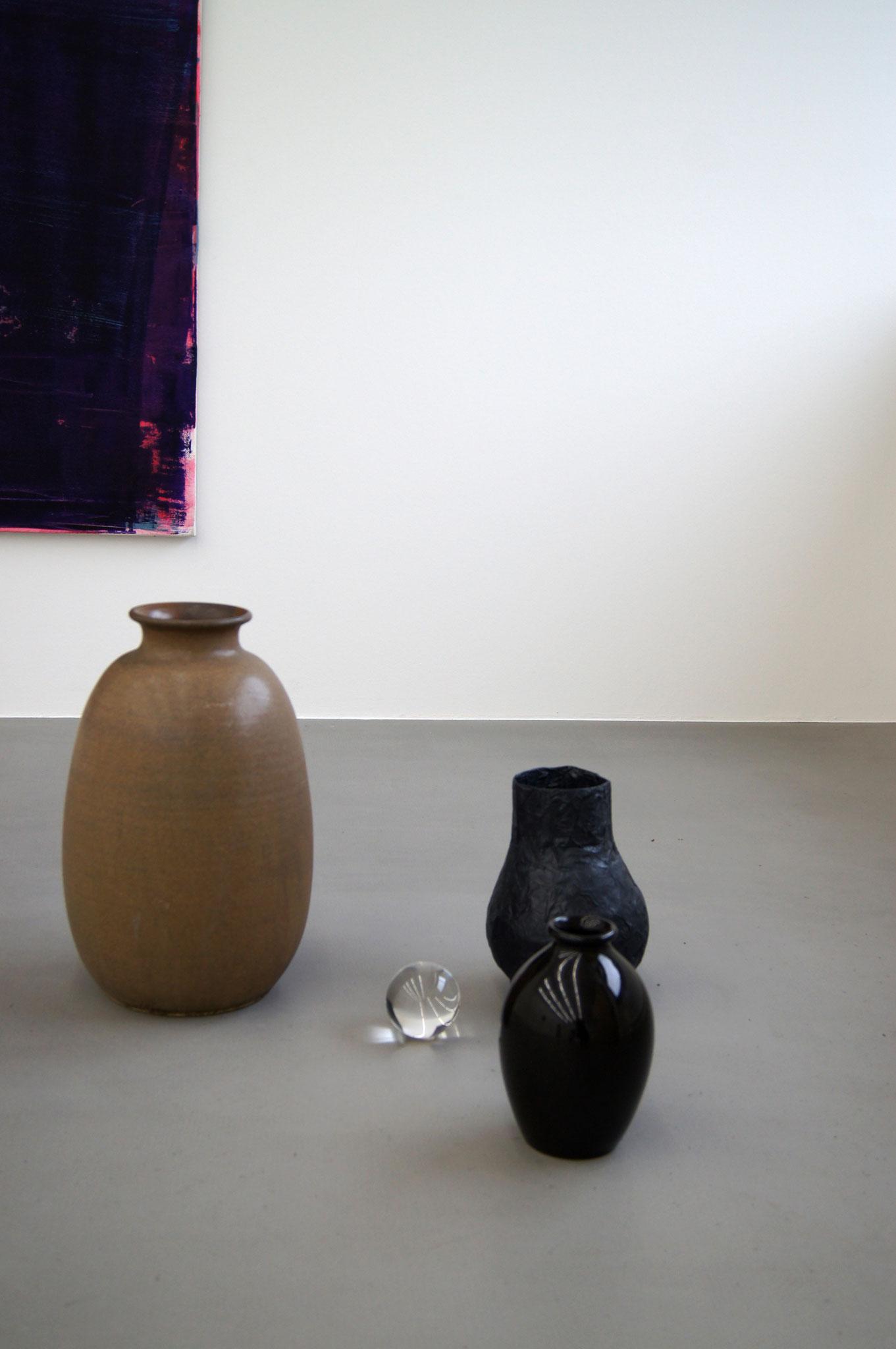 Paare  mehrteilige Installation  Ausstellungsansicht : fünf  Meisterschülerraum, Rundgang Mainz