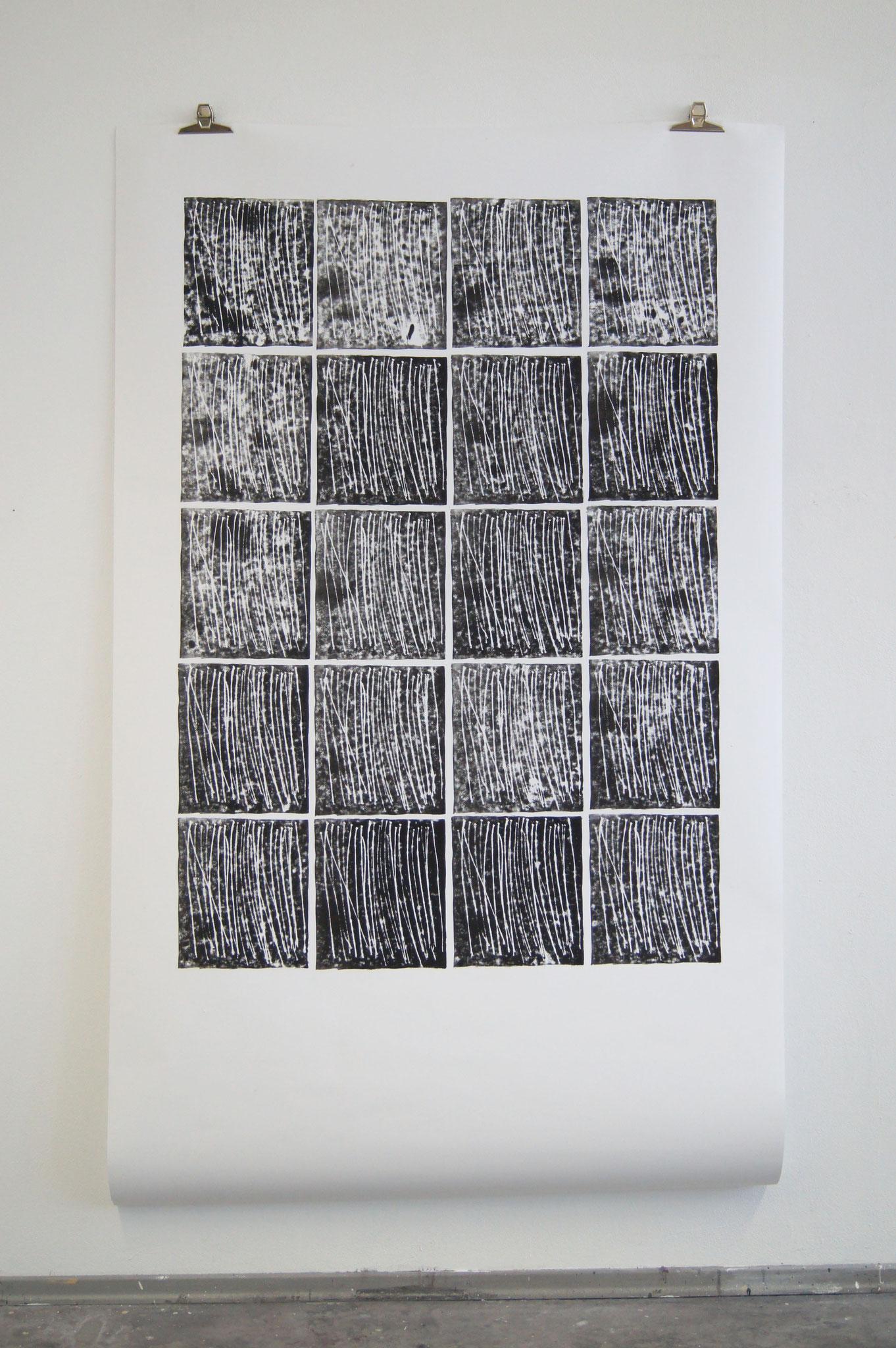 Hans Peter, Moosgummidruck, 1,50m x 2,50m