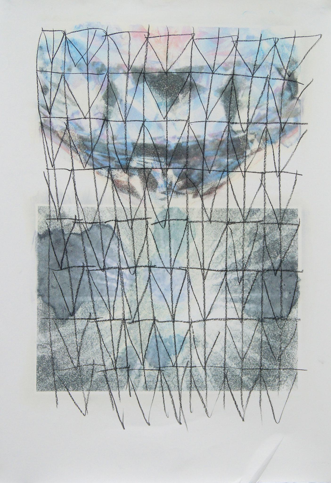 carcoaled Otto  Fototransferdruck und Kohlezeichnung, 53x77 cm