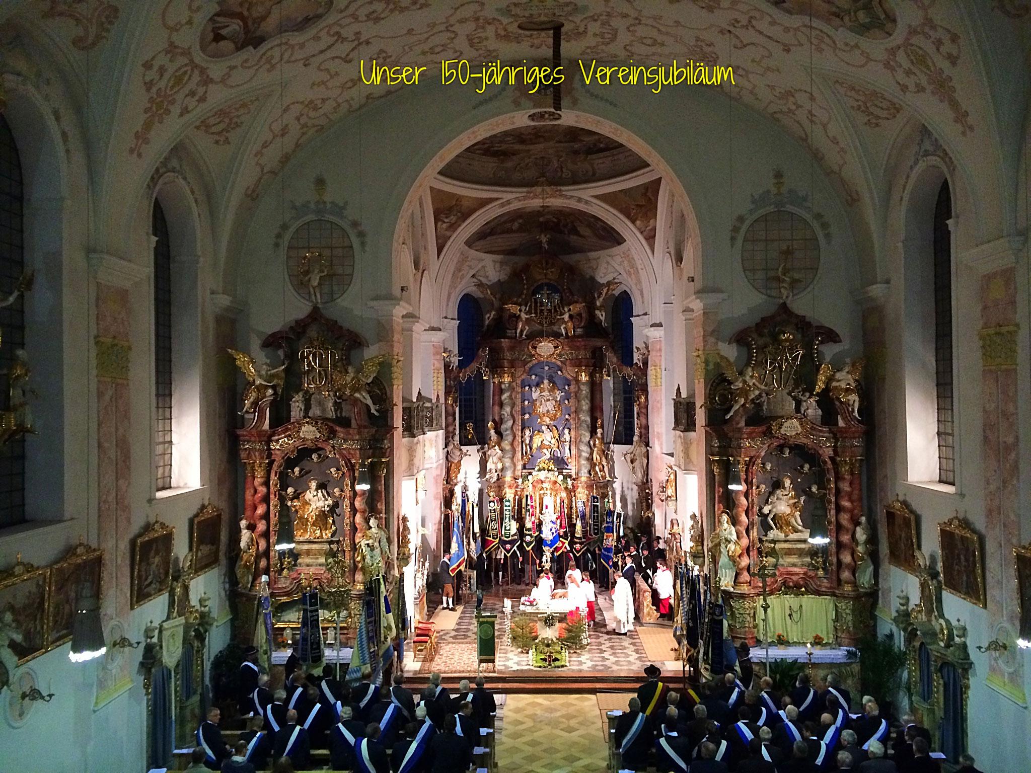 Den Festgottesdienst zelebrierte unser Pfarrer Joachim Schnitzer