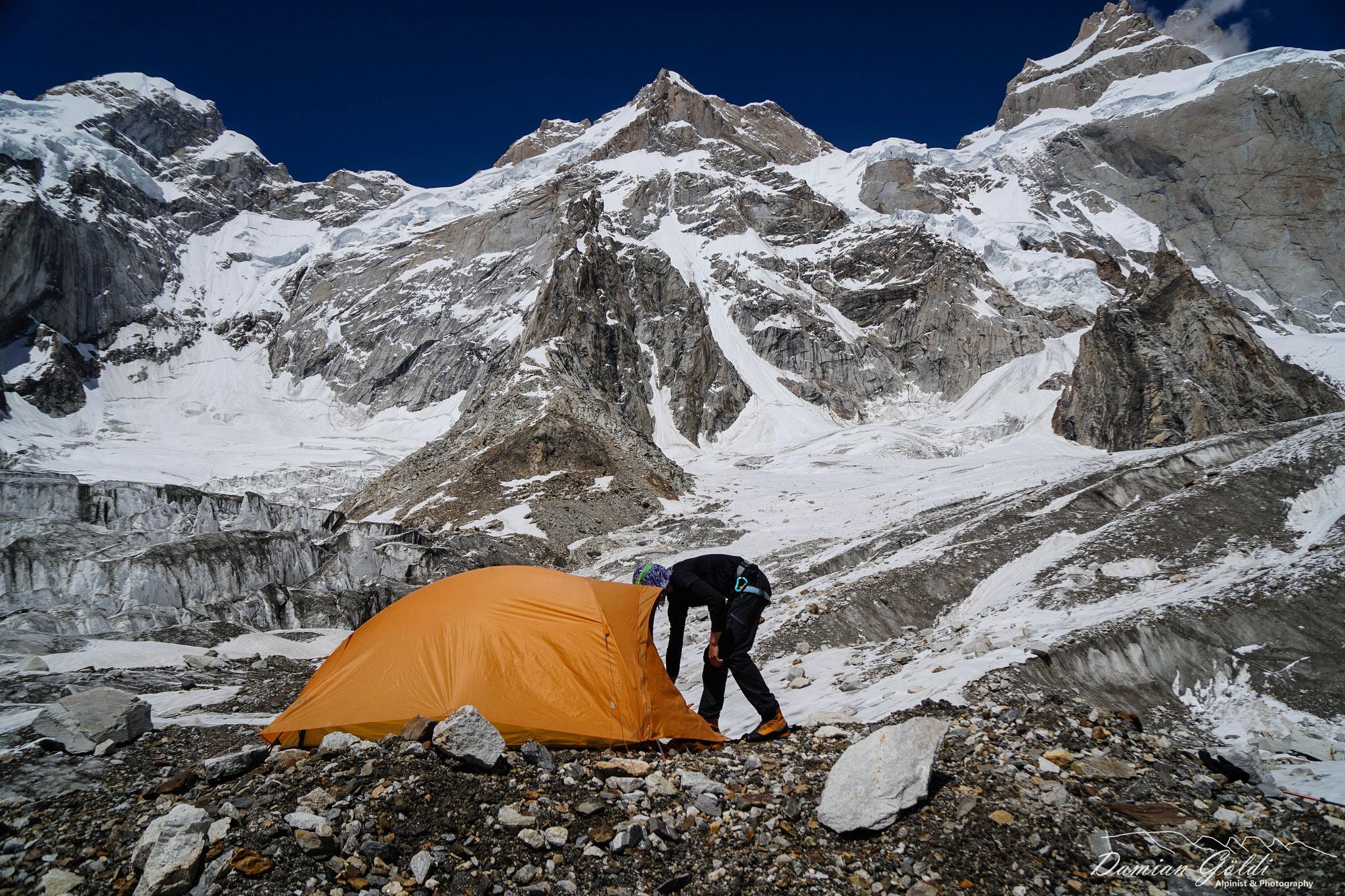 Camp 1 am Baintha IV.