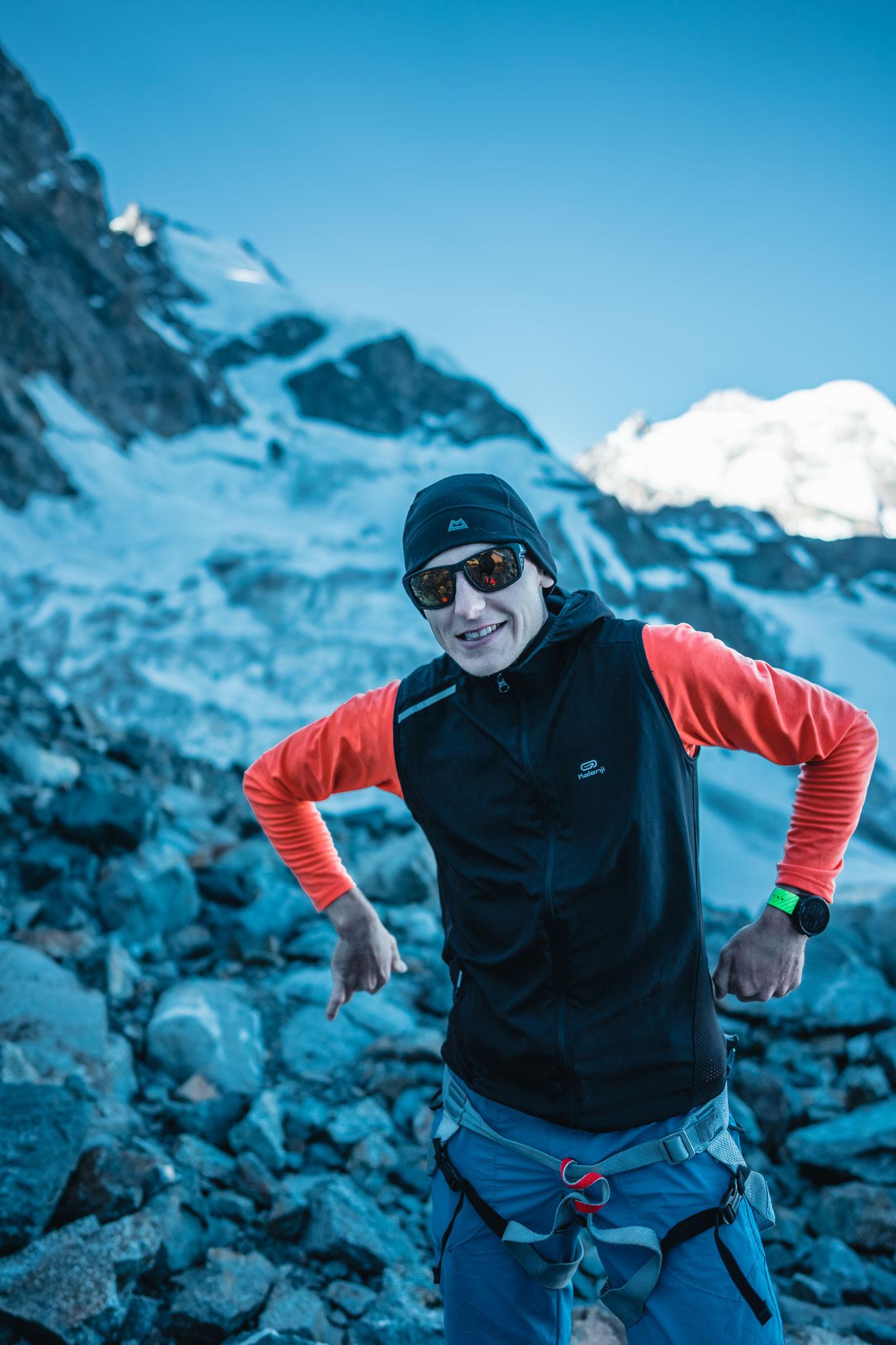 Im Aufstieg zum Piz Bernina