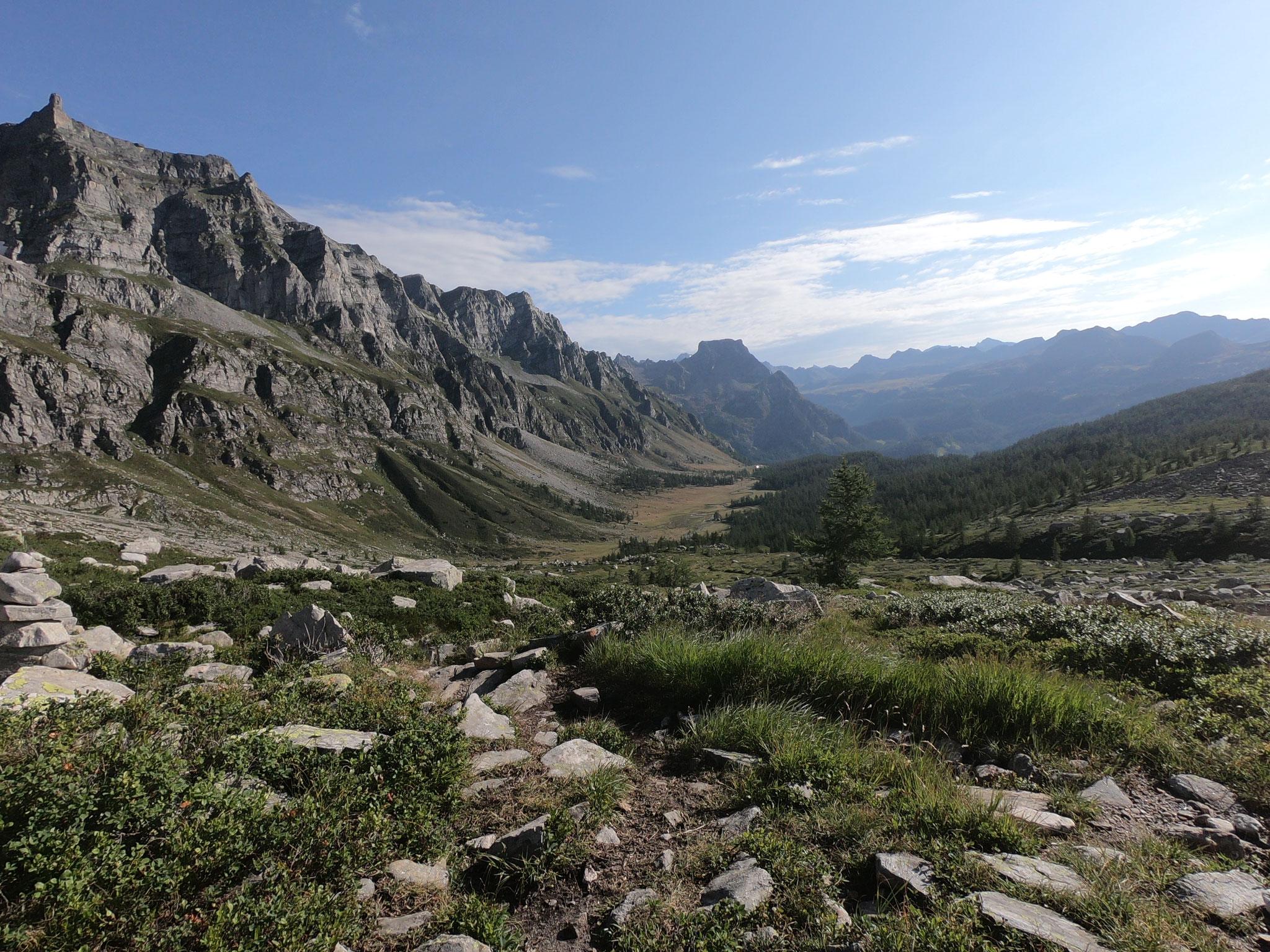 Aufstieg von der Alpe Devero hinüber zur Alpe Veglia