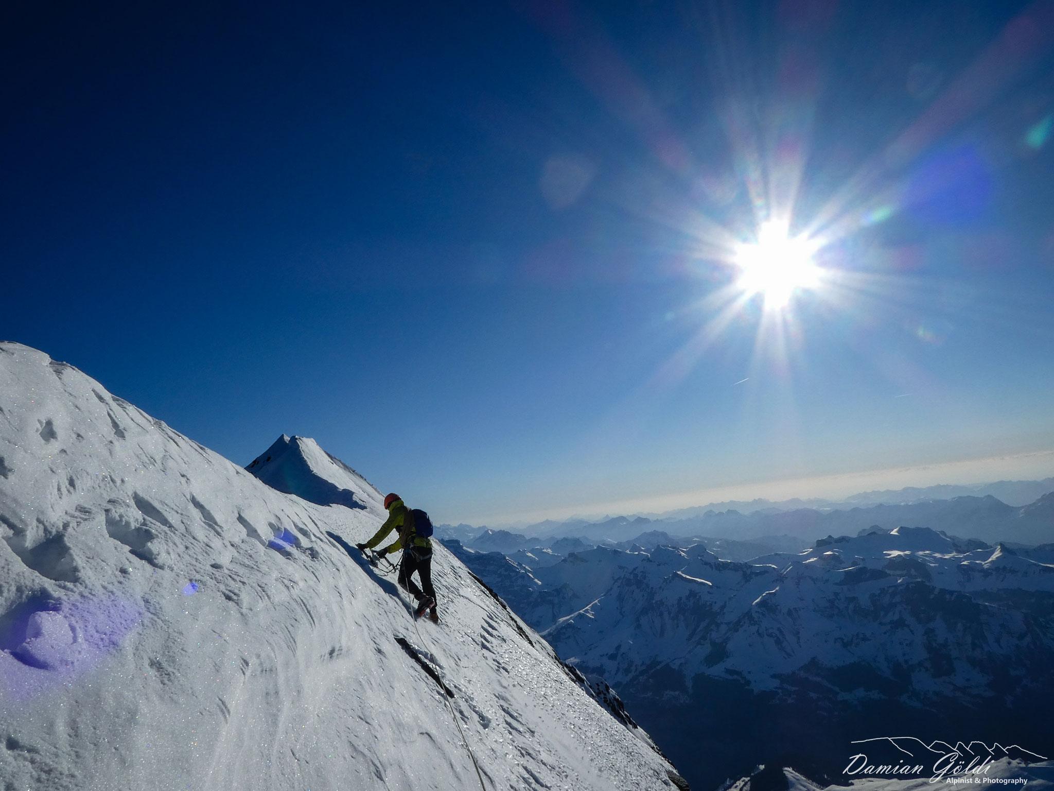 Ausstieg Eiger Nordwand. Foto: D. Göldi