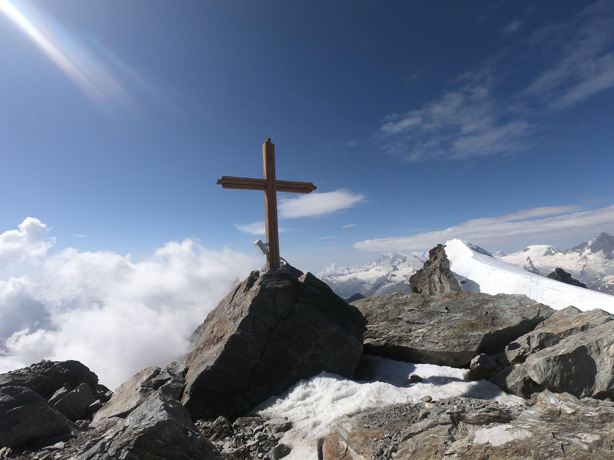 Fletschhorn, nach dem Aufstieg von Simplon über den Breitloibgrat