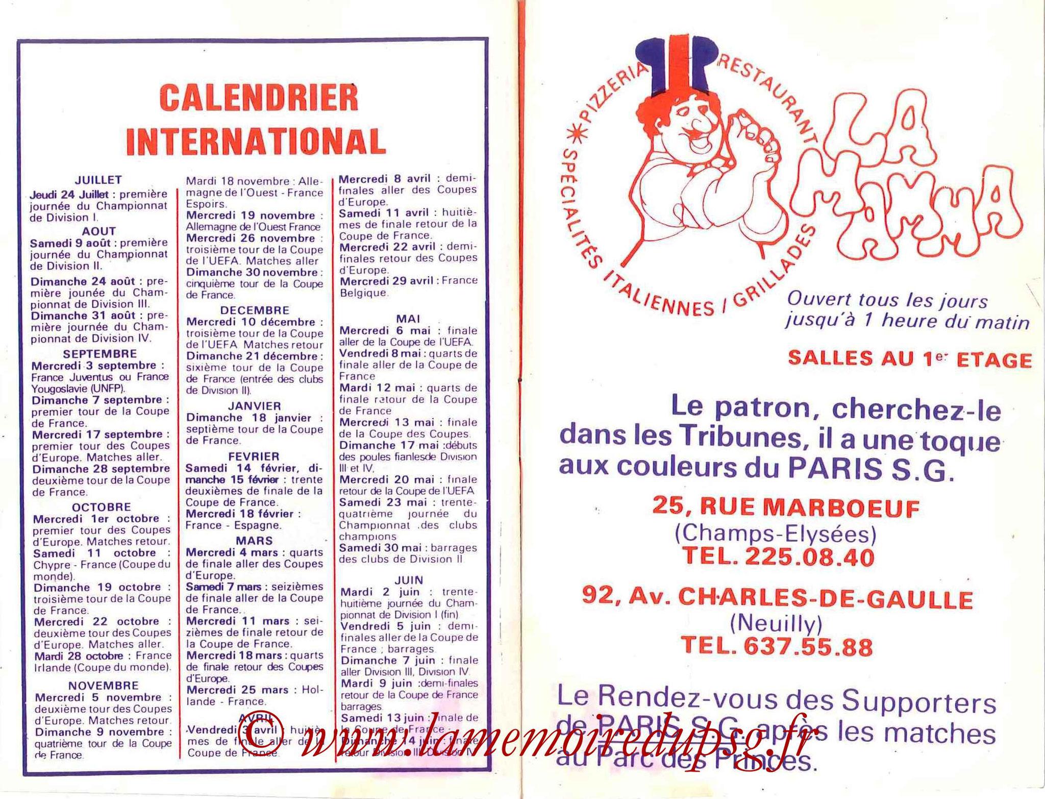 1980-81 - Guide de la Saison PSG - Pages 14 et 15