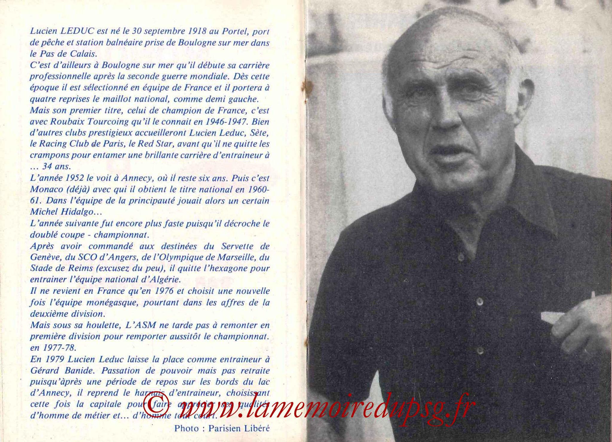 1983-84 - Guide de la Saison PSG - Pages 12 et 13