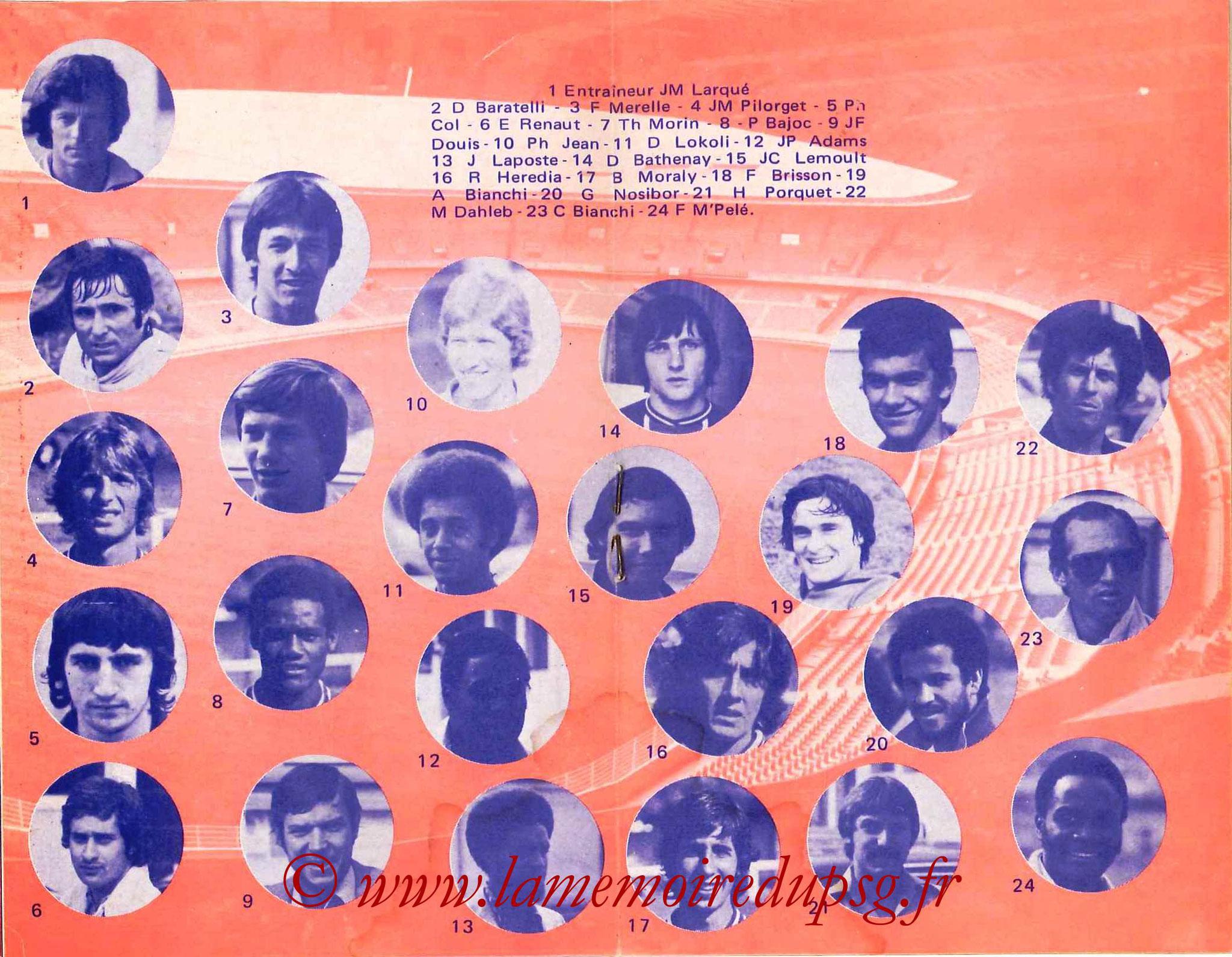1978-79 - Guide de la Saison PSG - Pages 8 et 9
