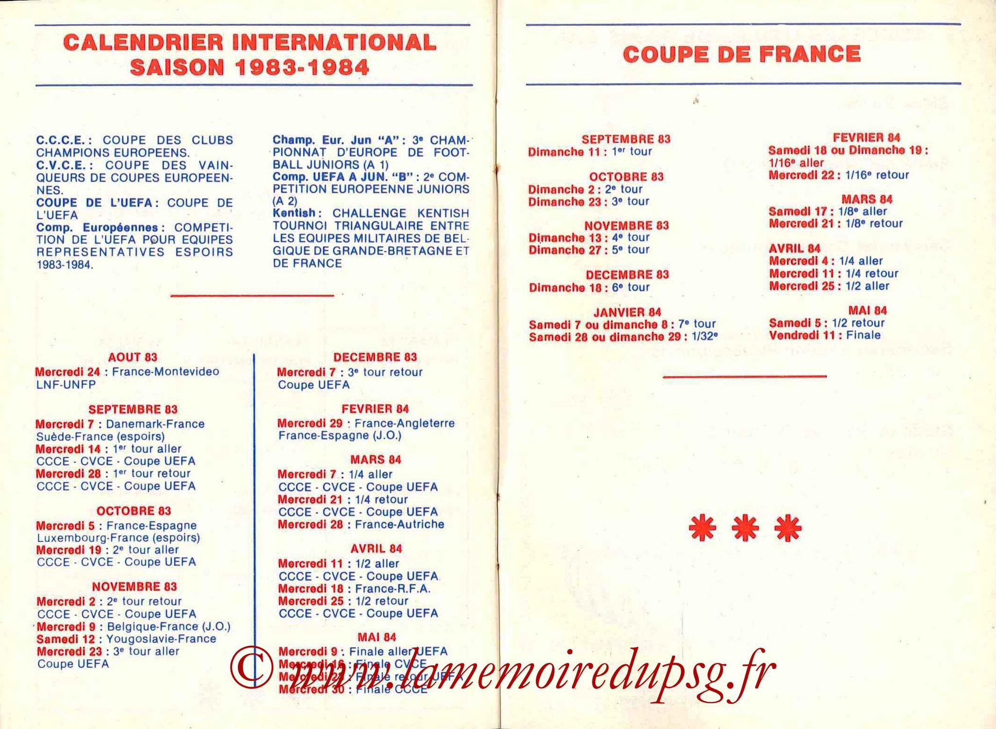 1983-84 - Guide de la Saison PSG - Pages 24 et 25