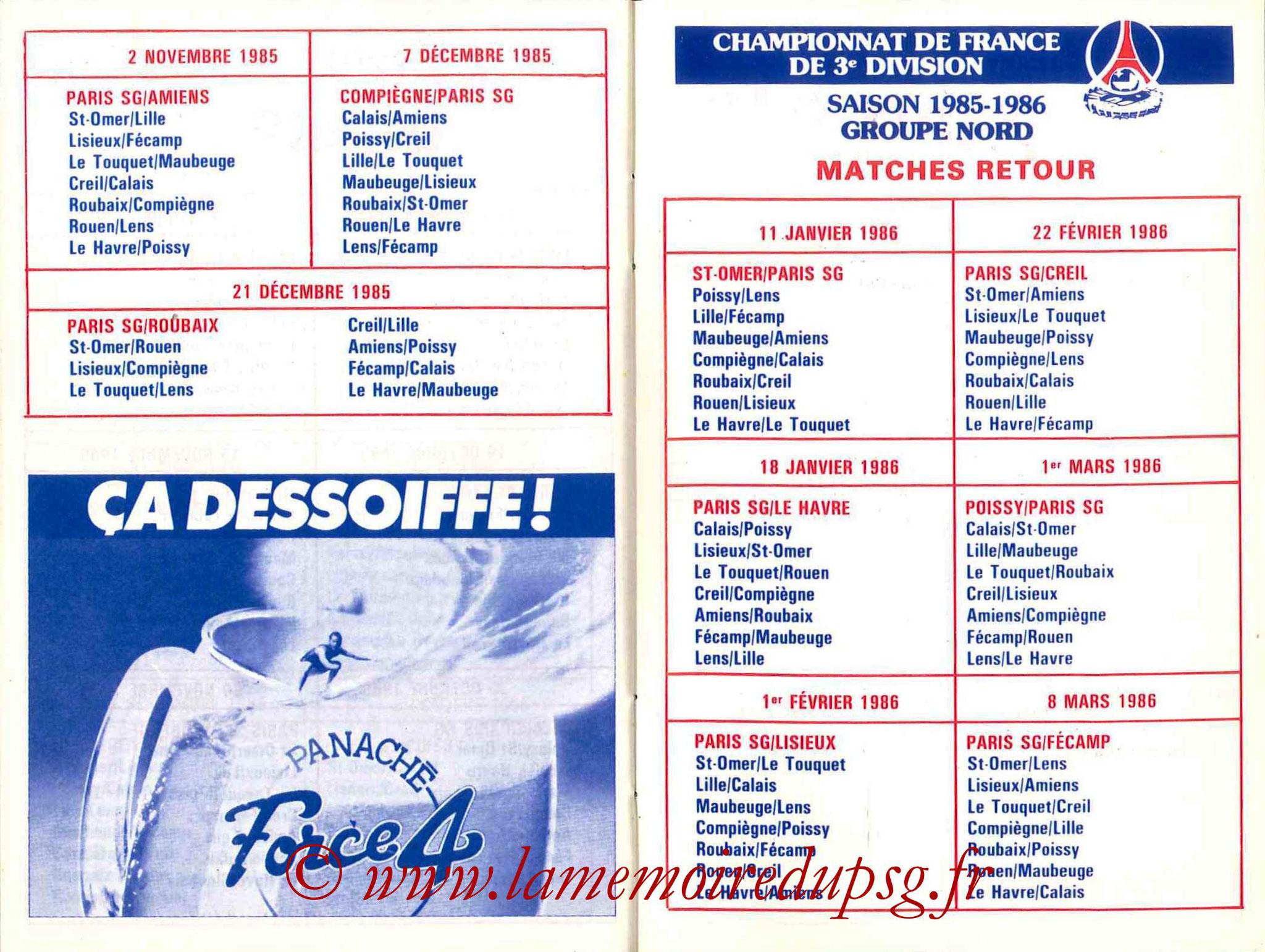 1985-86 - Guide de la Saison PSG - Pages 28 et 29